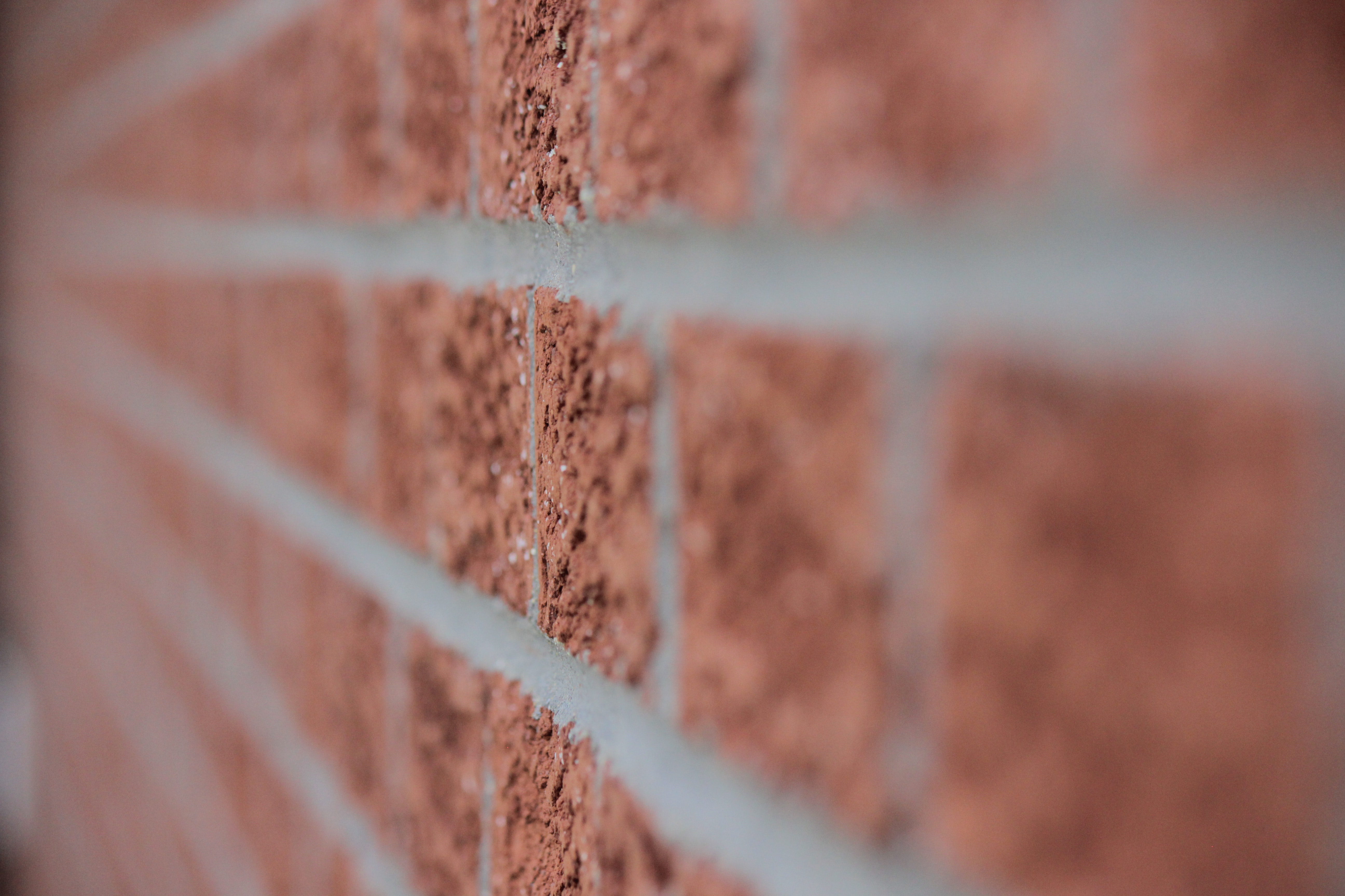 Brown brick wall close up photo
