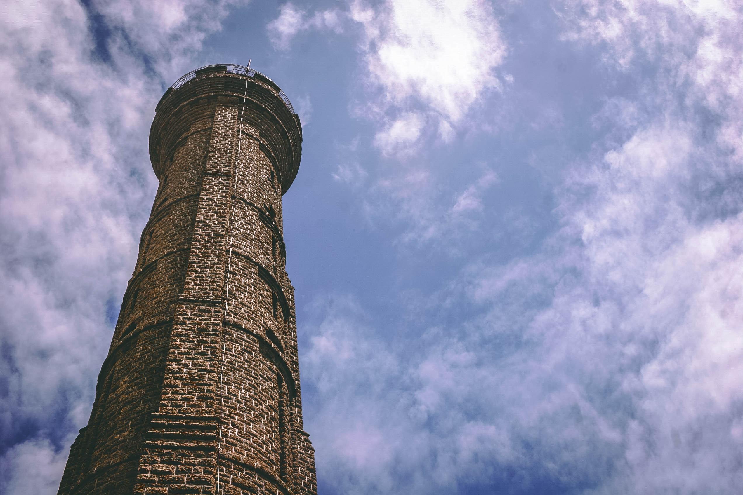 Brown brick watchtower photo