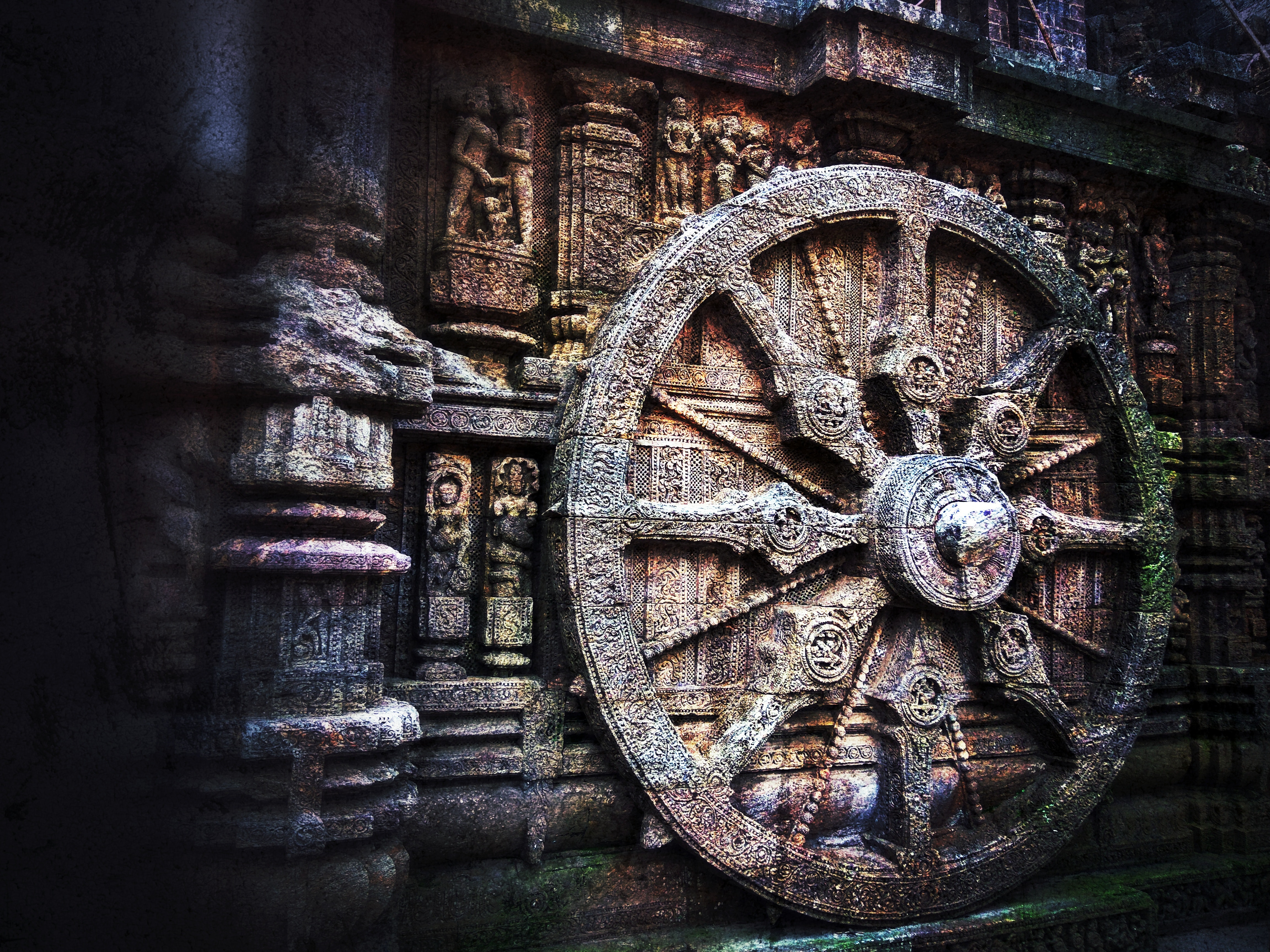 Brown Carriage Wheel, Abandoned, Religion, Wheel, Wall, HQ Photo
