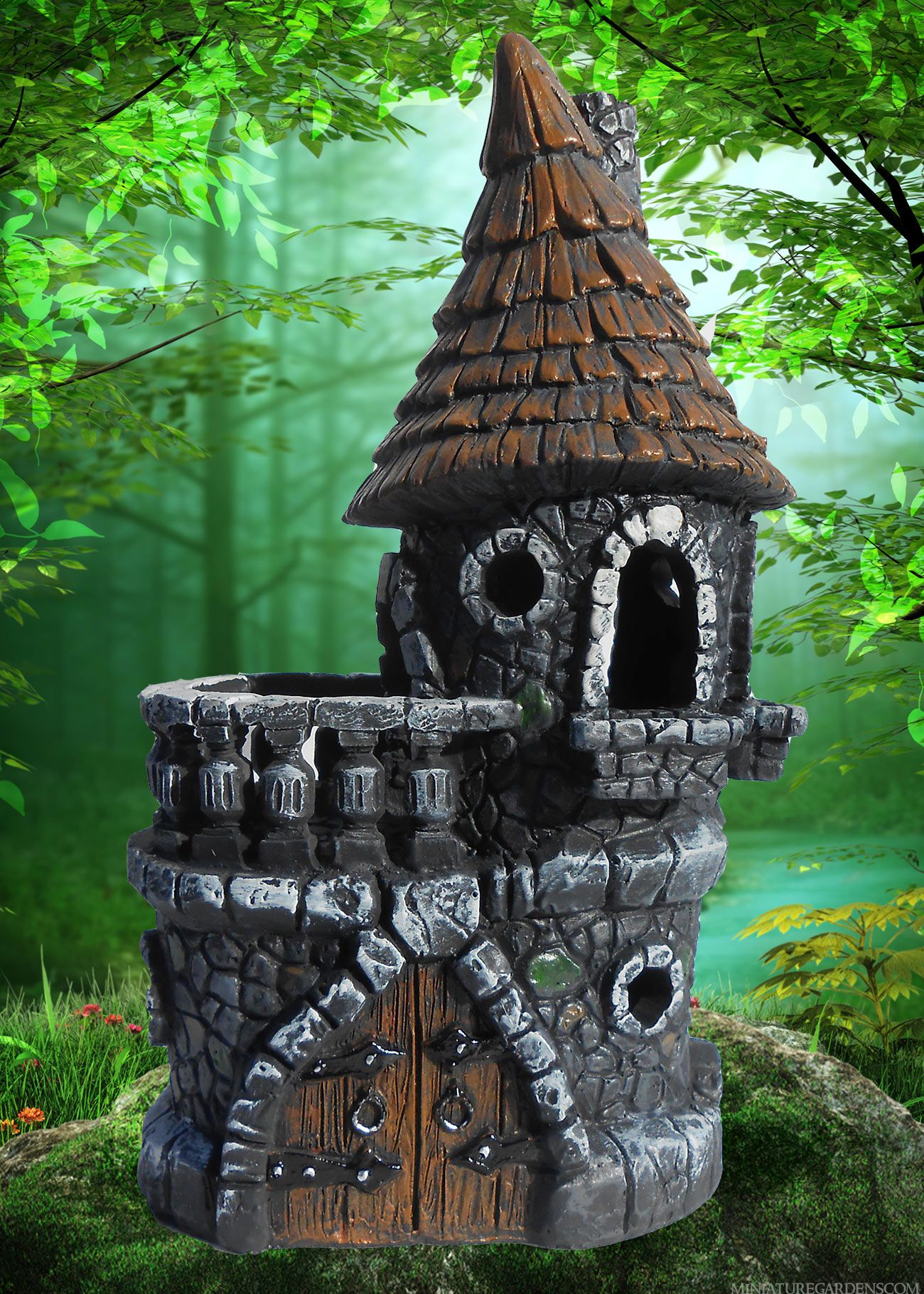 New style of castle fairy house. | Fairy garden groovin ...