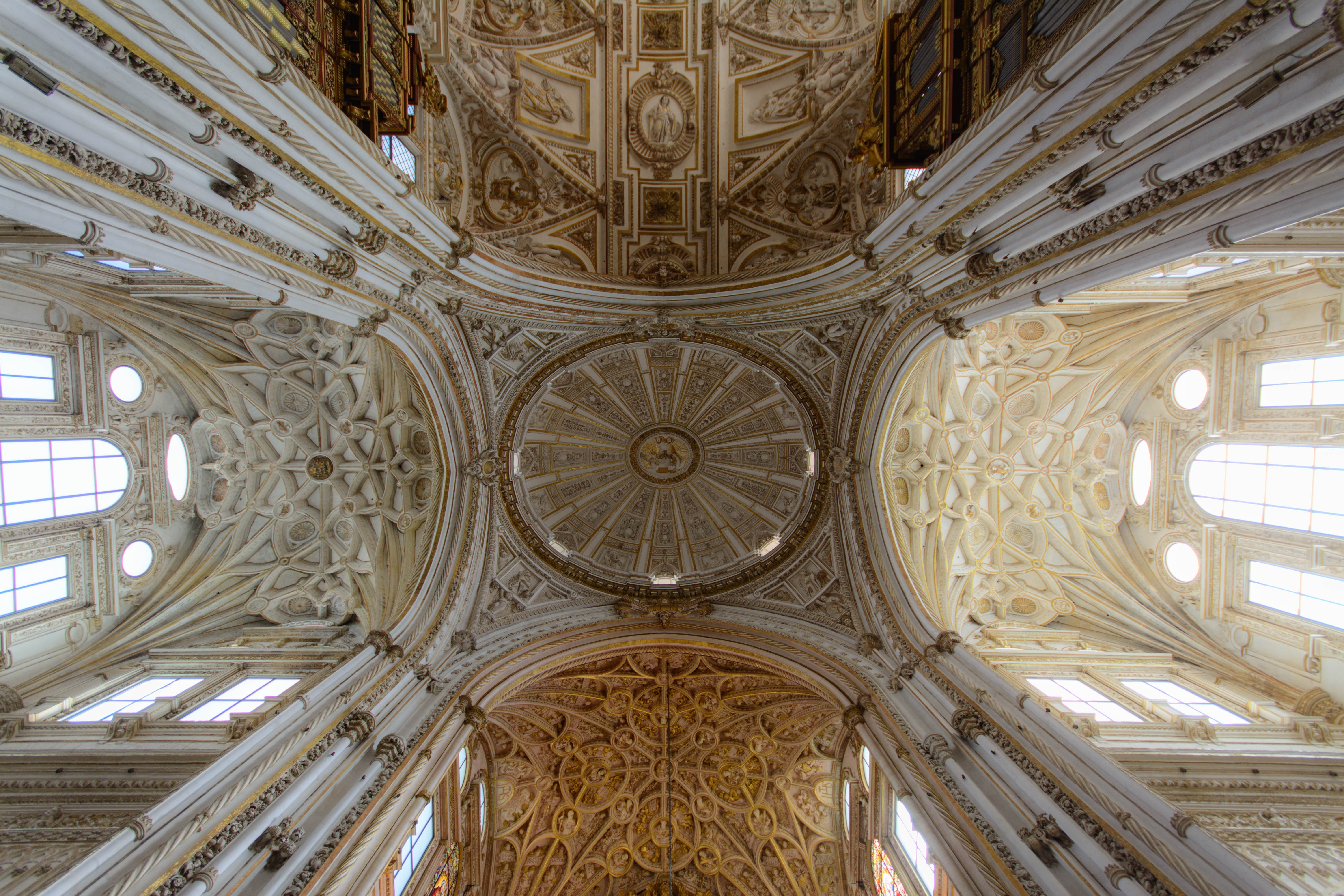 Brown ceiling ornate painting photo