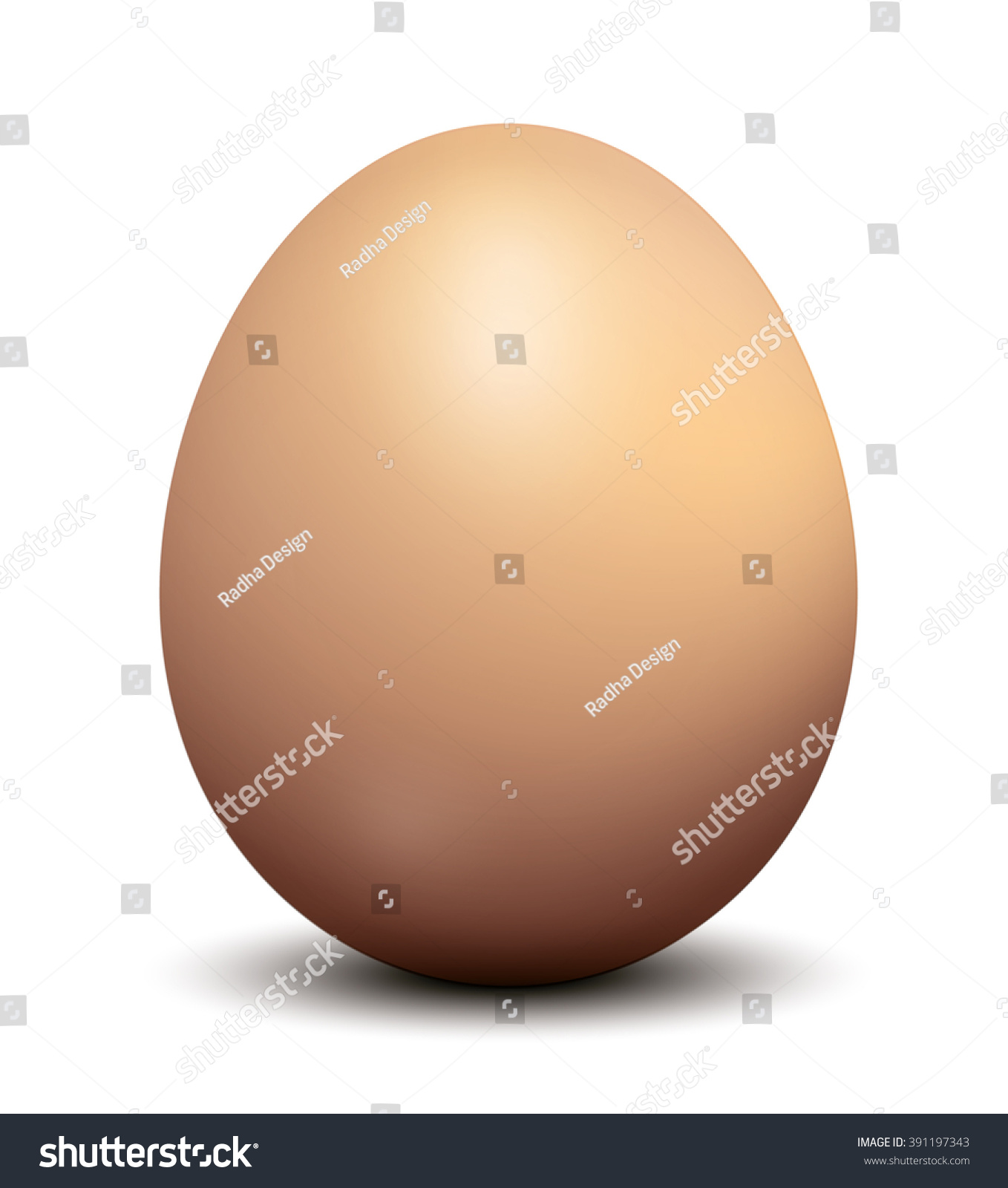 Brown Chicken Egg Vector Illustration Stock Vector 391197343 ...