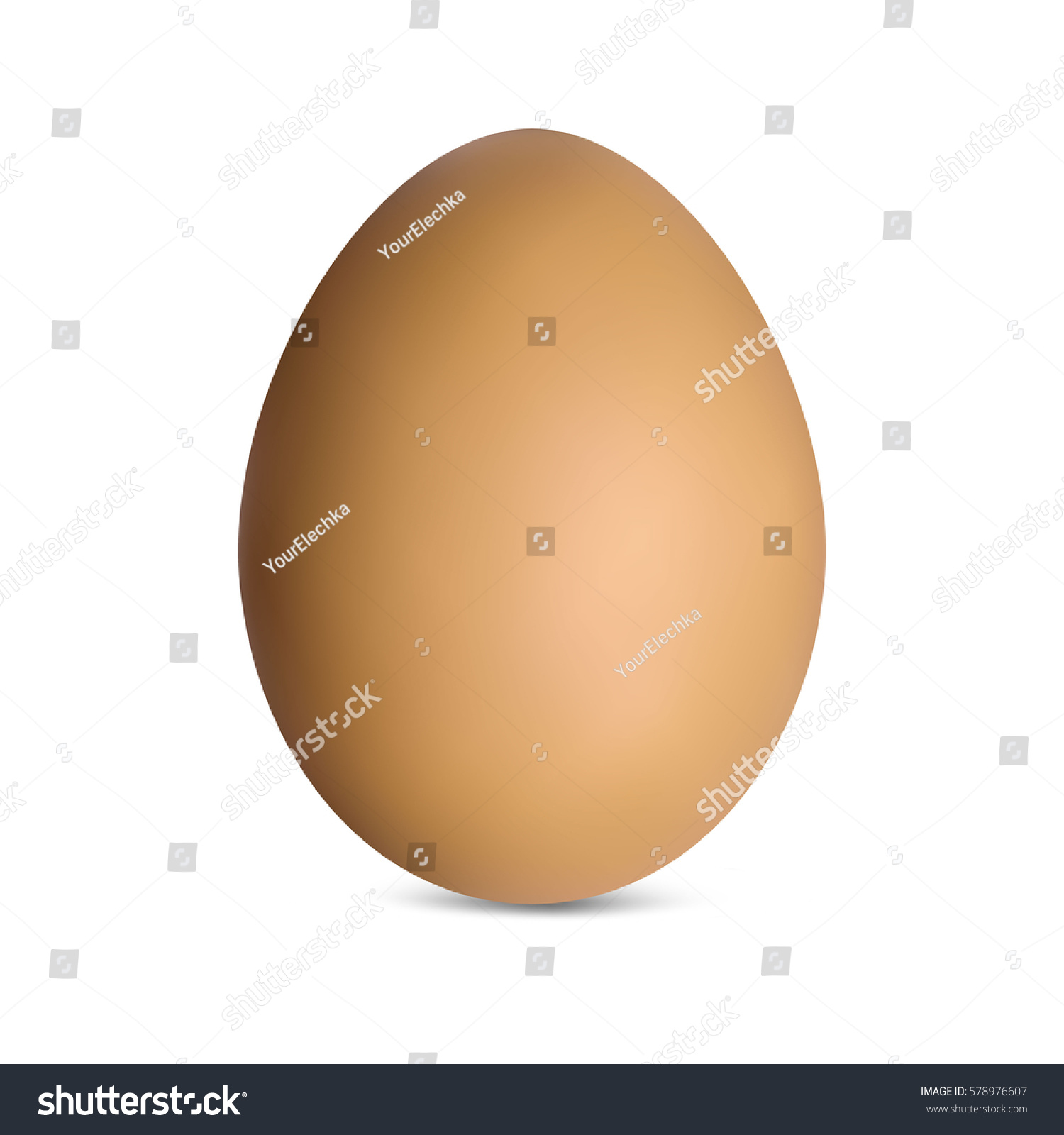 Brown Chicken Egg Vector Illustration Stock Vector 578976607 ...