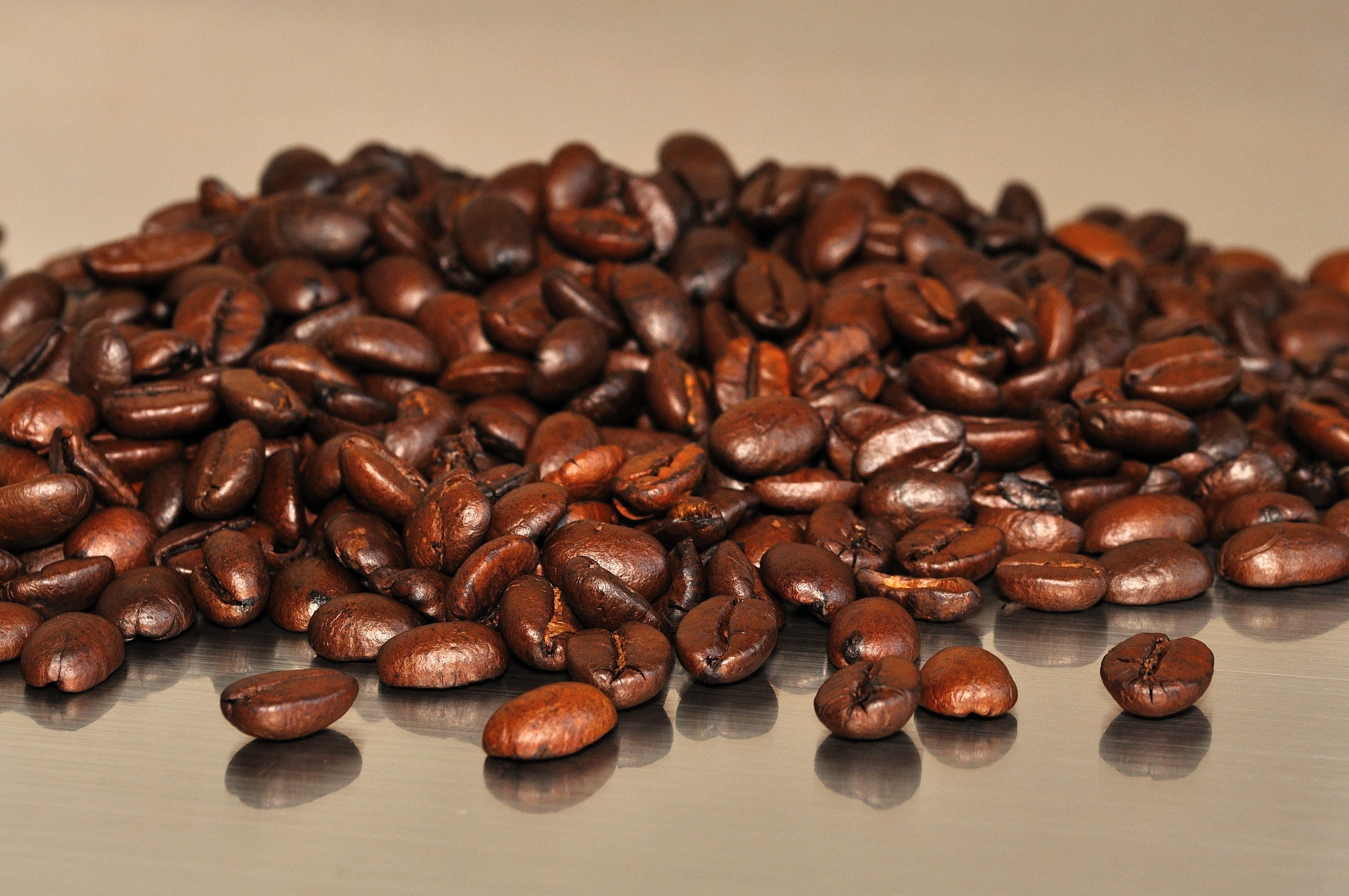 Brown coffee beans photo