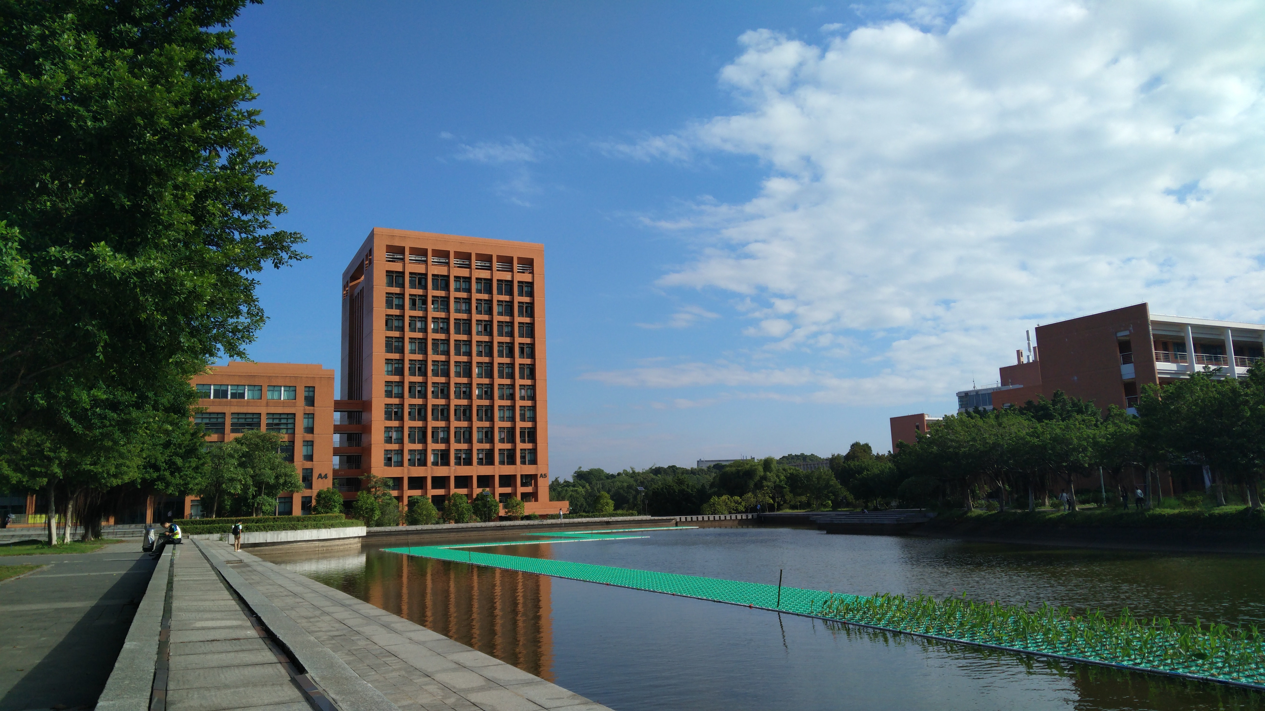 Brown Concrete Structure during Day Time, Architecture, Building, Pond, Water, HQ Photo