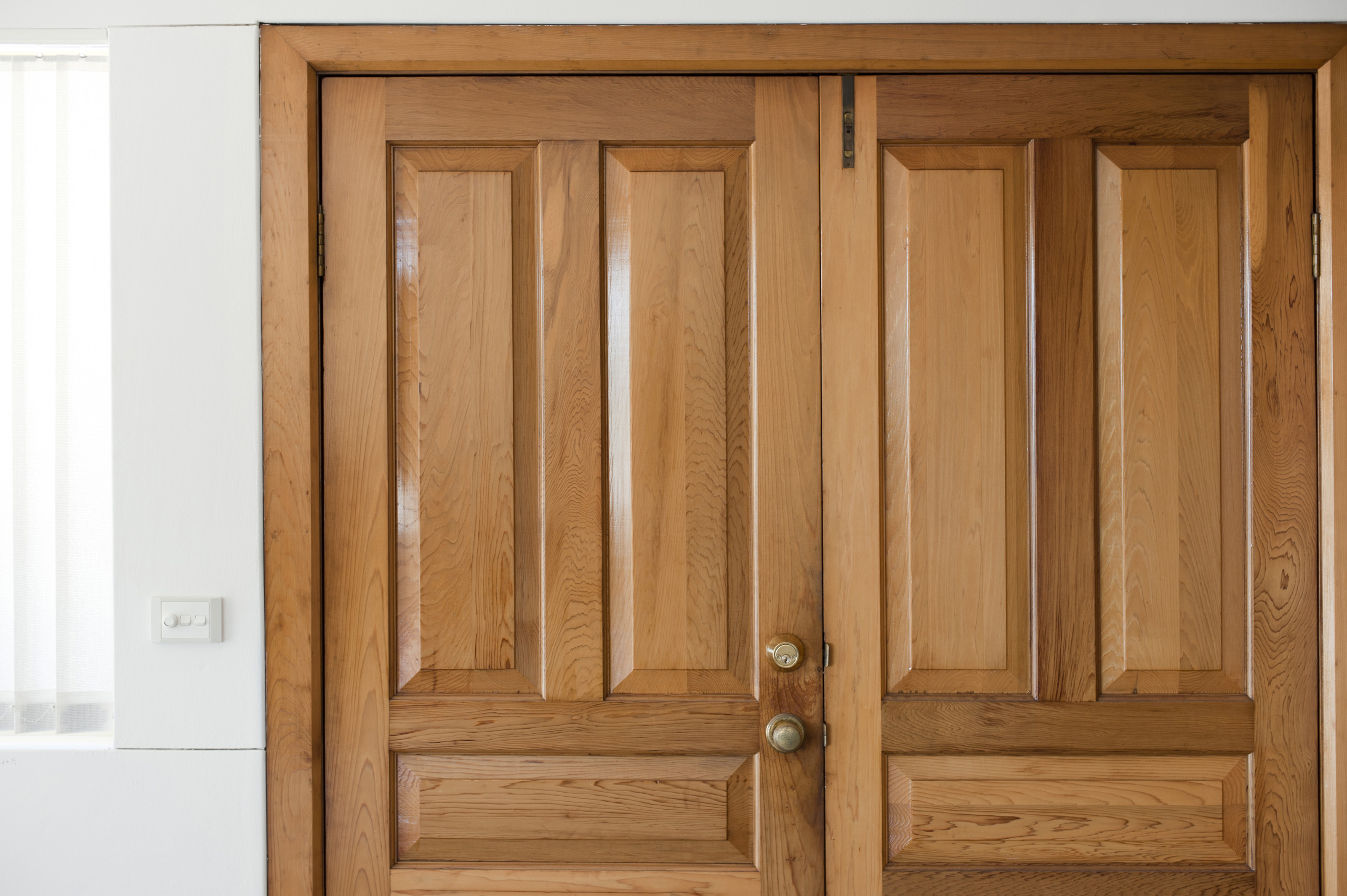 Free Stock Photo 10660 Close up of a Wooden Front Double Door ...