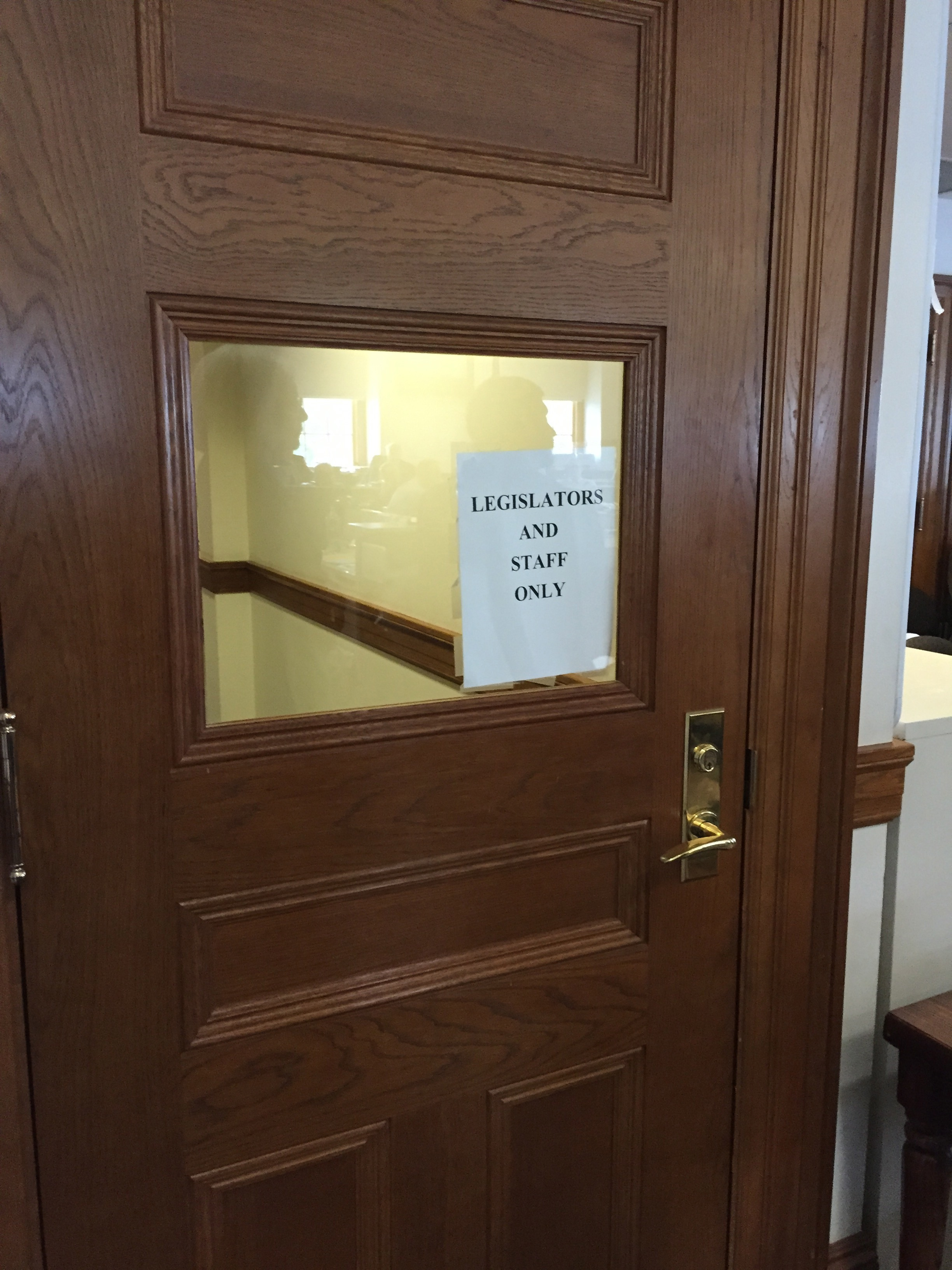 Closed door: Legislators conducting public business in private ...