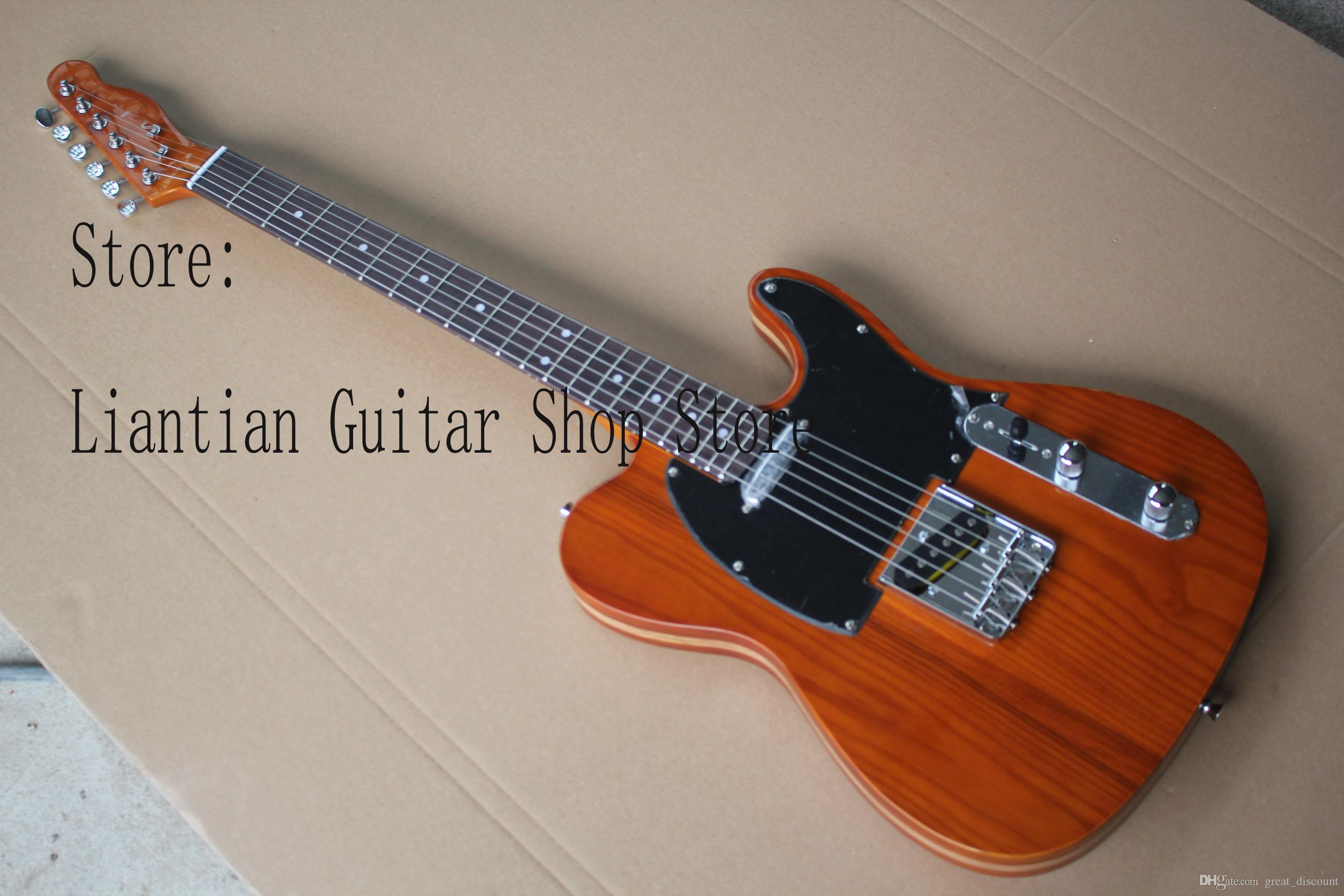 Brown electric guitar photo