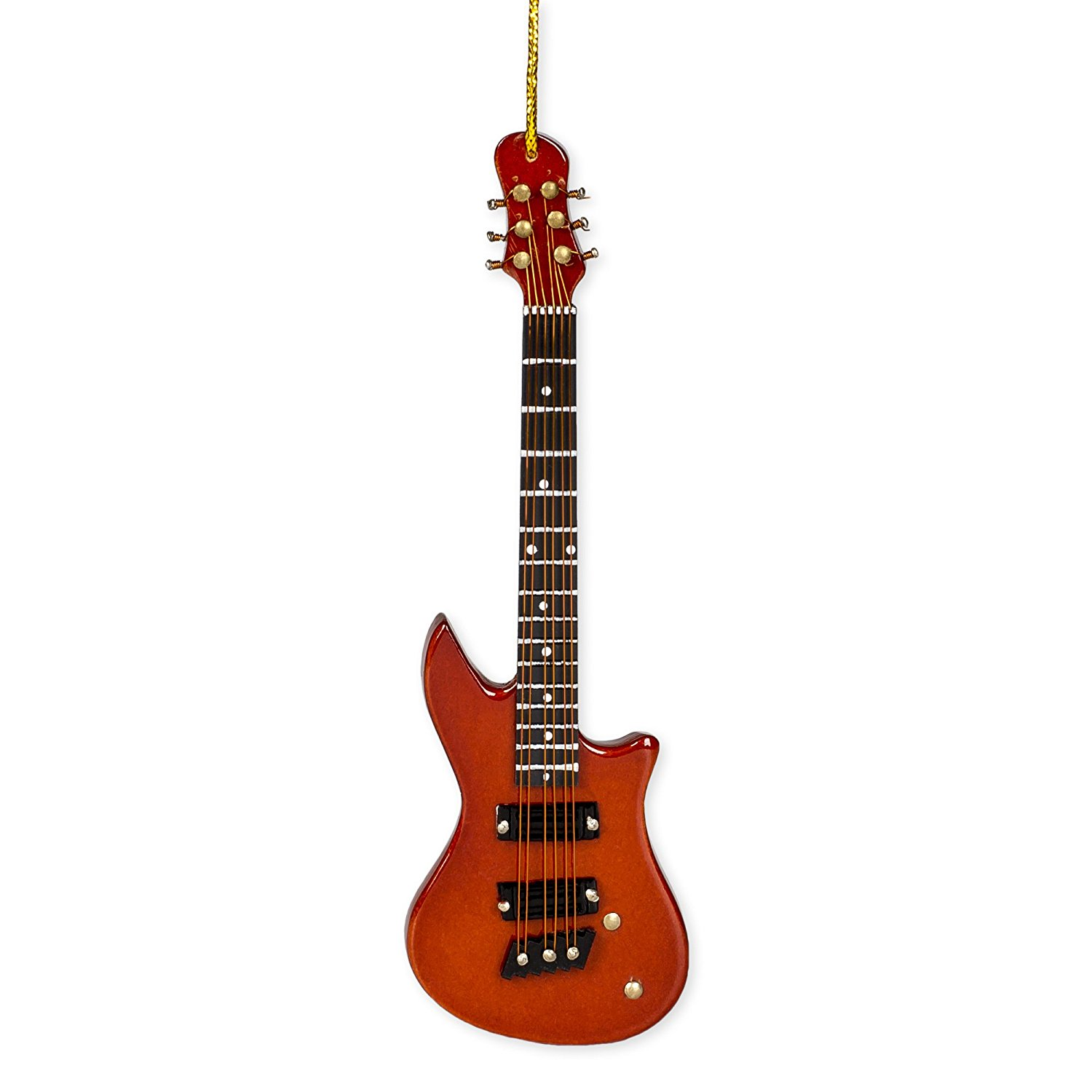 Brown Electric Guitar Ornament - Christmas Store
