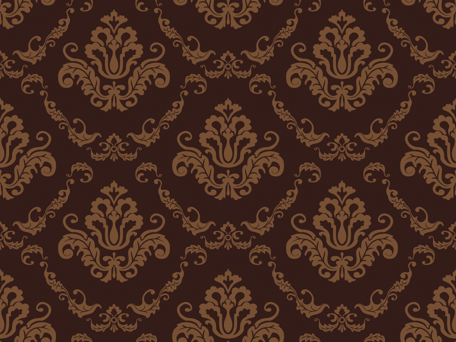 Brown Flower Pattern Powerpoint Templates - Brown, Pattern - Free ...