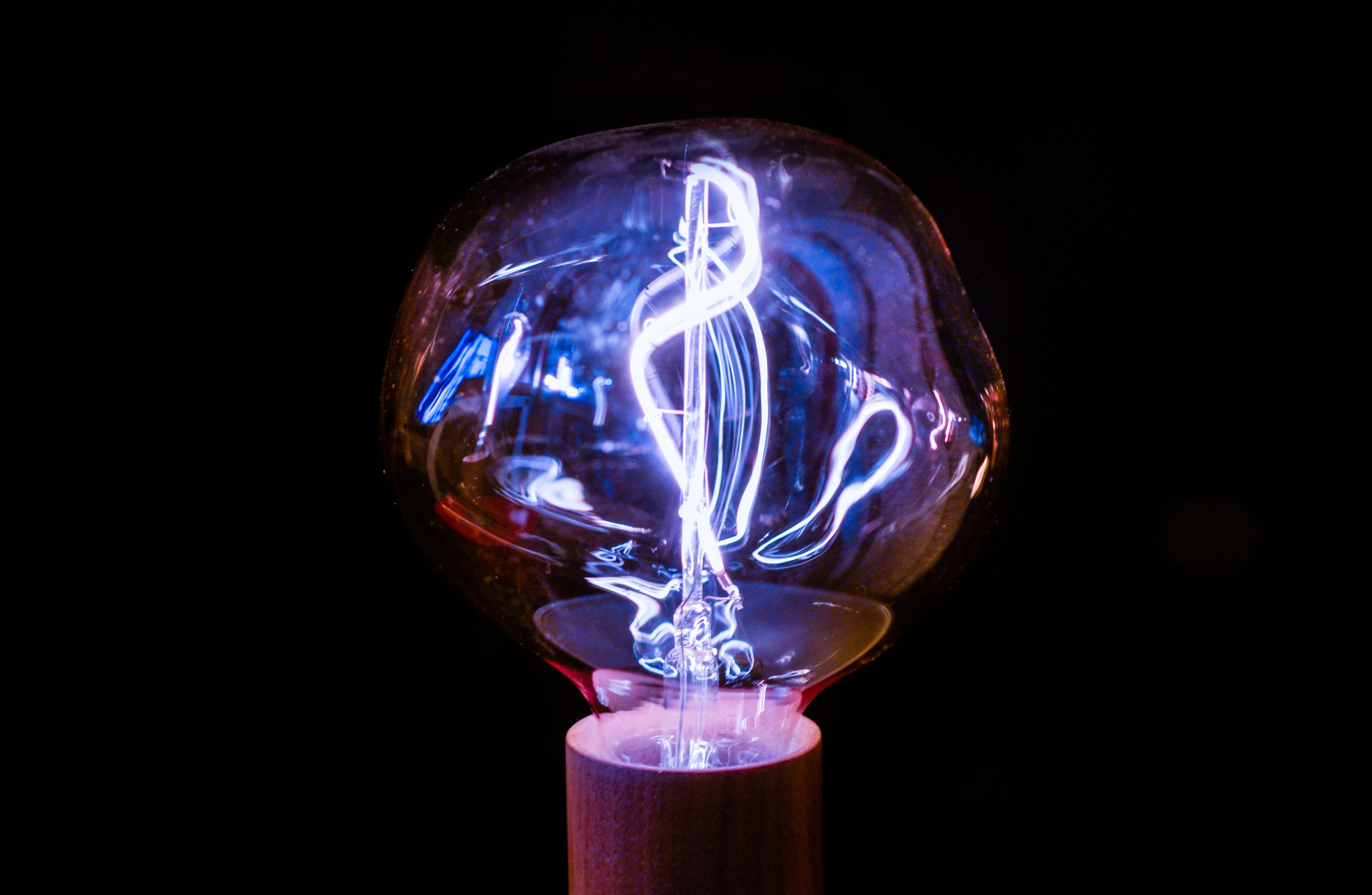 Brown framed light bulb photo