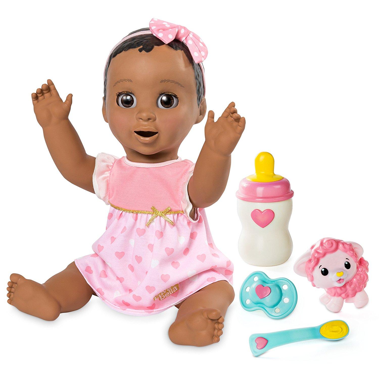 Amazon.com: Spinmaster Luvabella - Dark Brown Hair - Responsive Baby ...