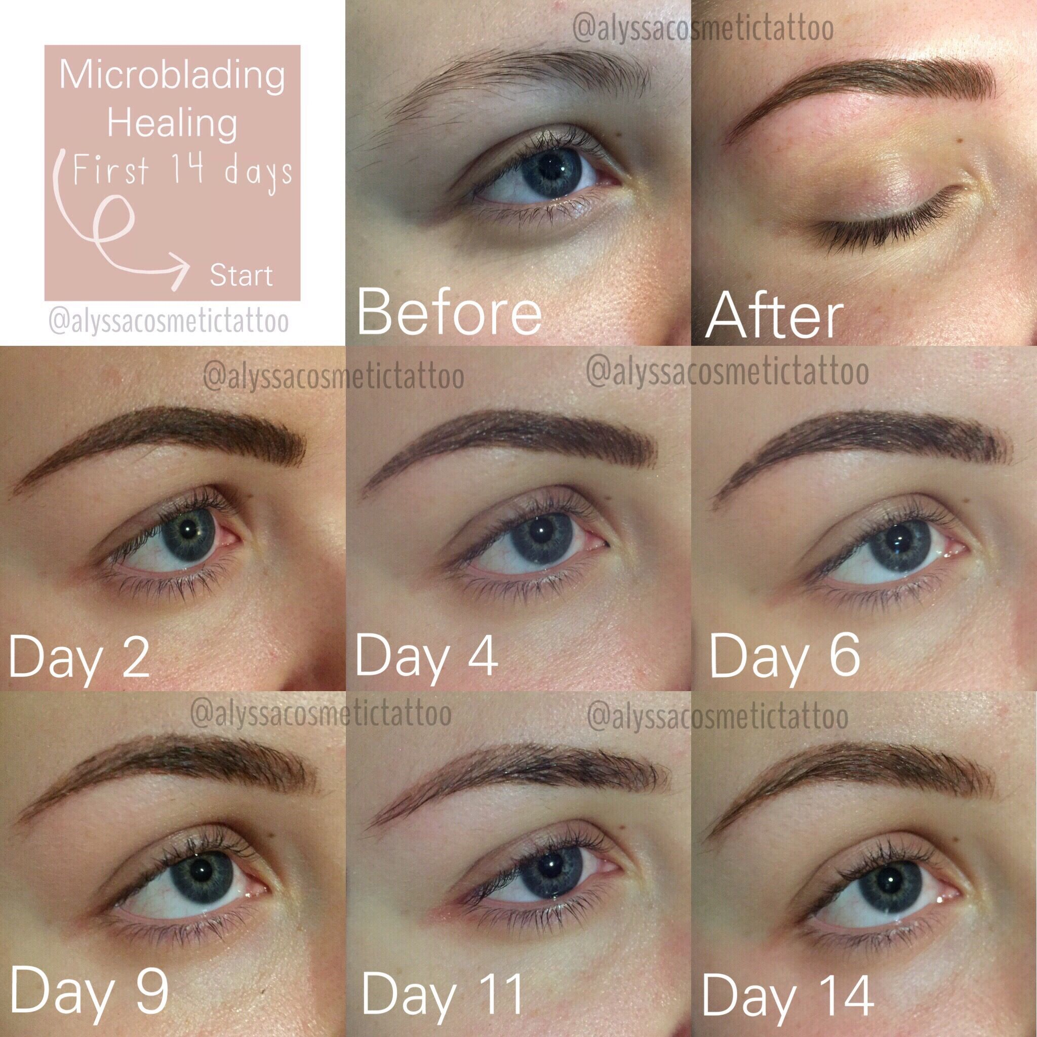 First 14 days of the healing process after Microblading are always ...