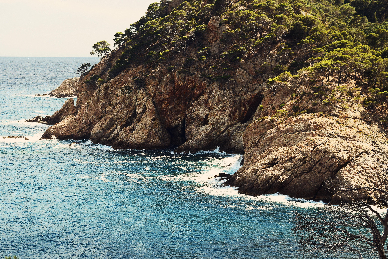 Brown islet rock photo