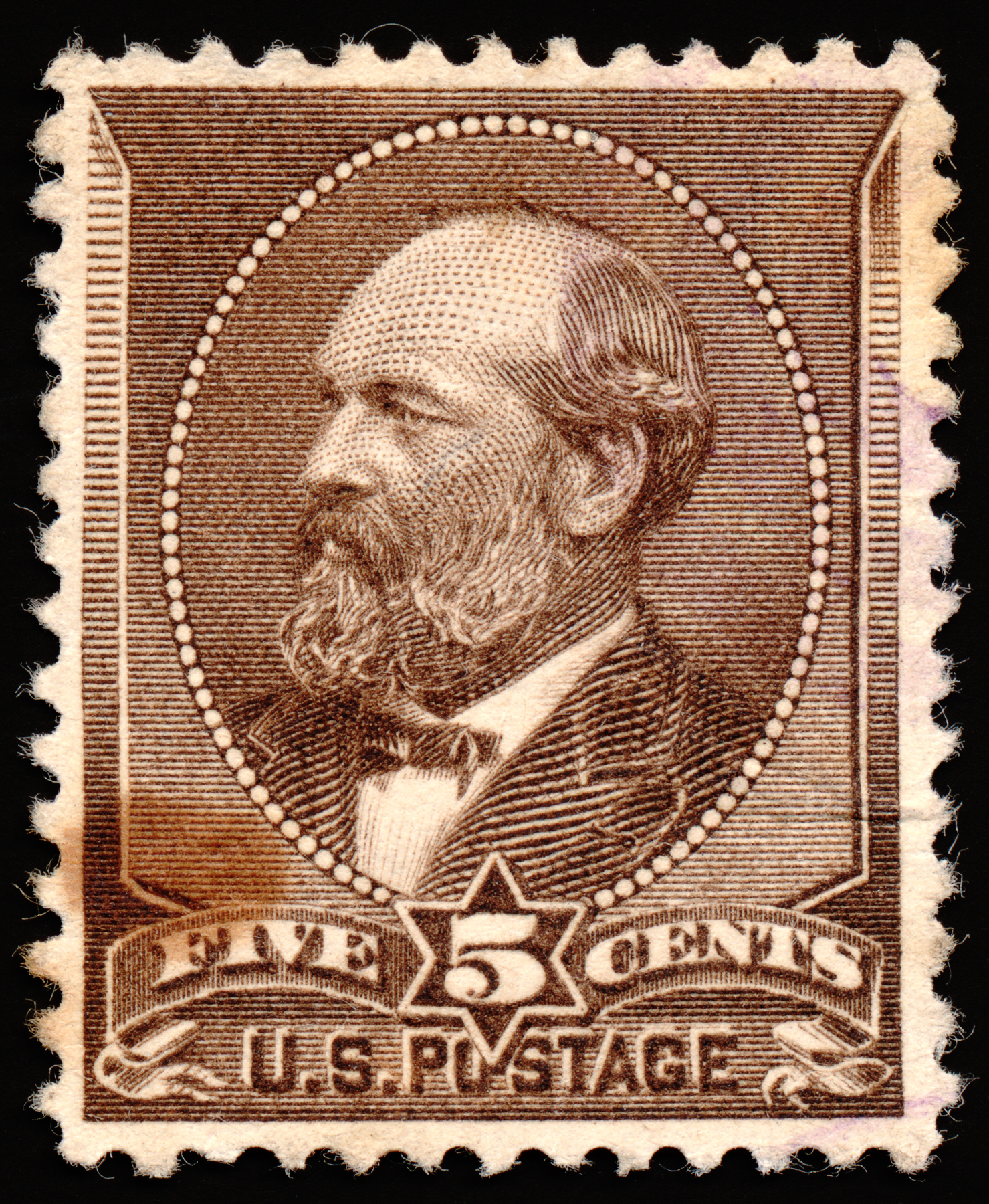Brown james garfield stamp photo