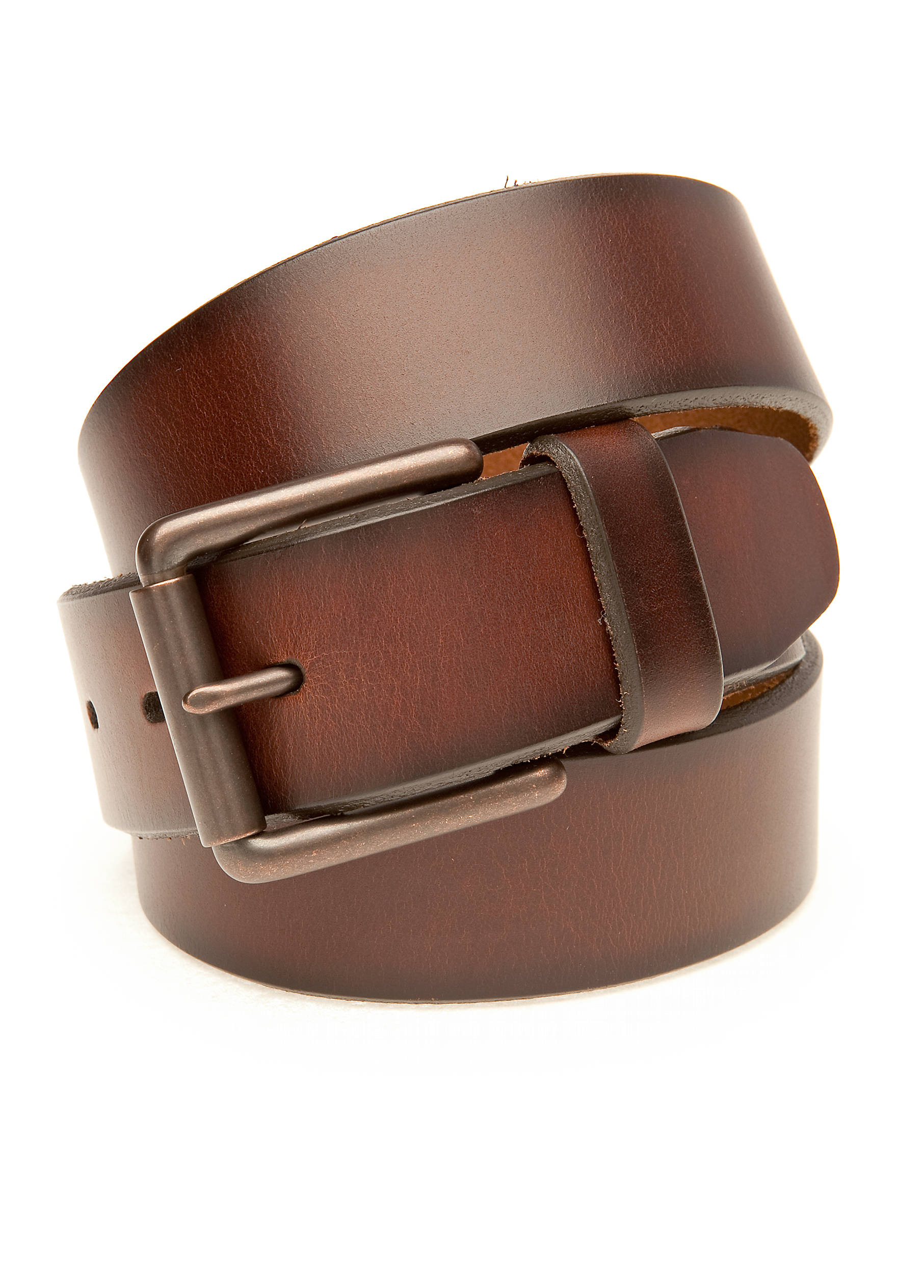 Saddlebred® 1.38-In. Casual Brown Leather Belt Men's Accessories ...