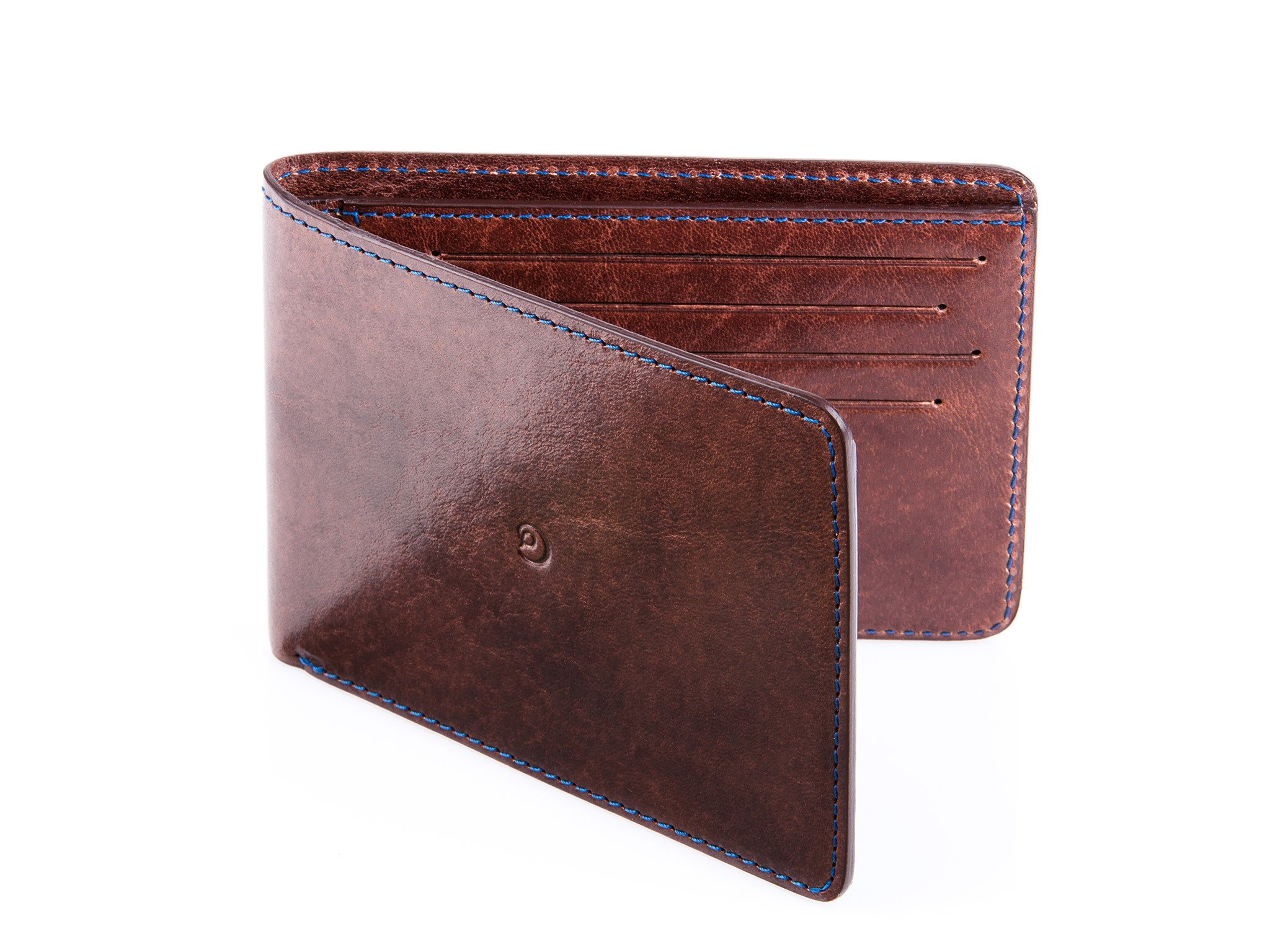 Slim leather wallet dark brown by Danny P.
