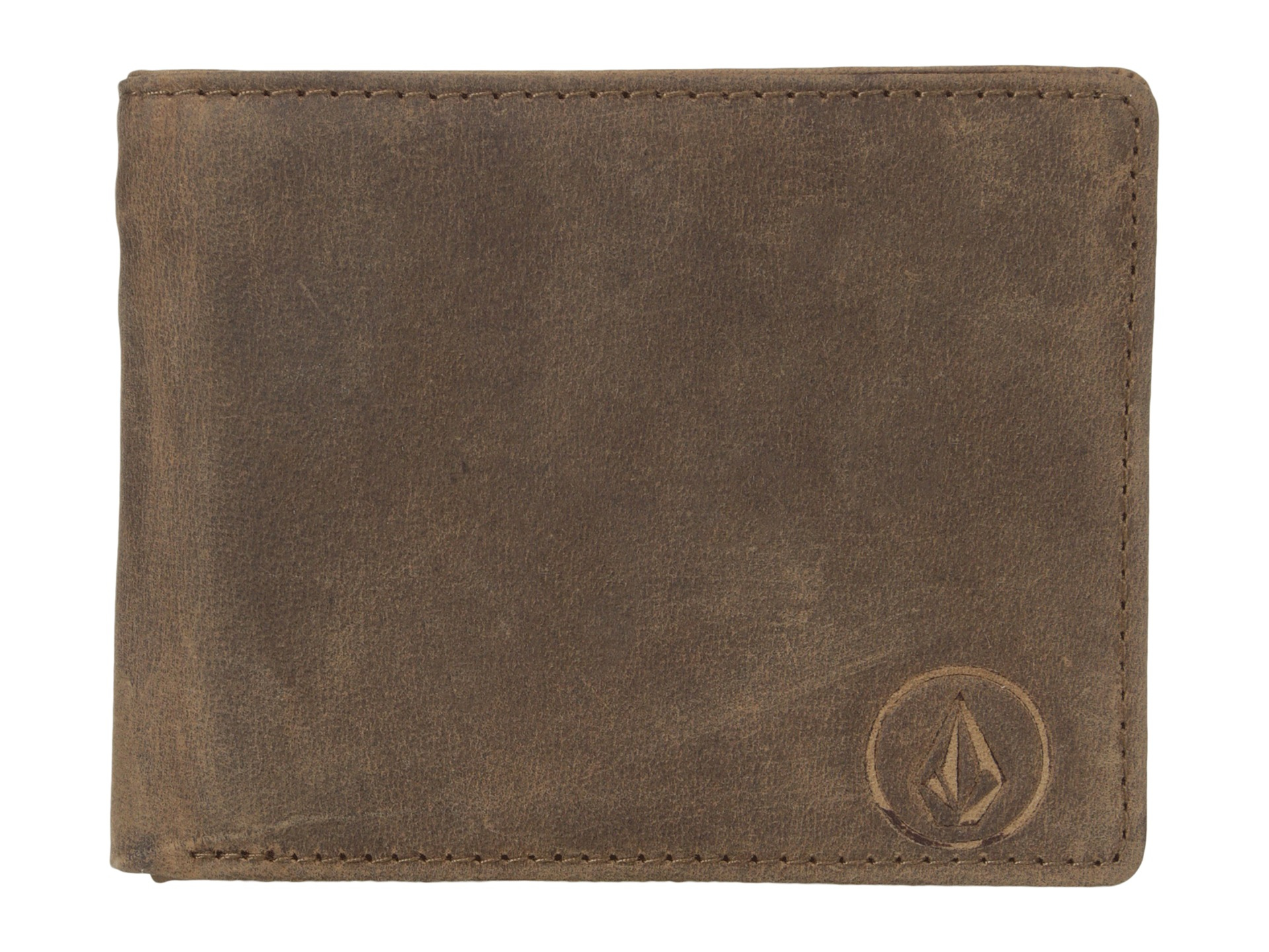 Lyst - Volcom Prime Leather Wallet in Brown for Men