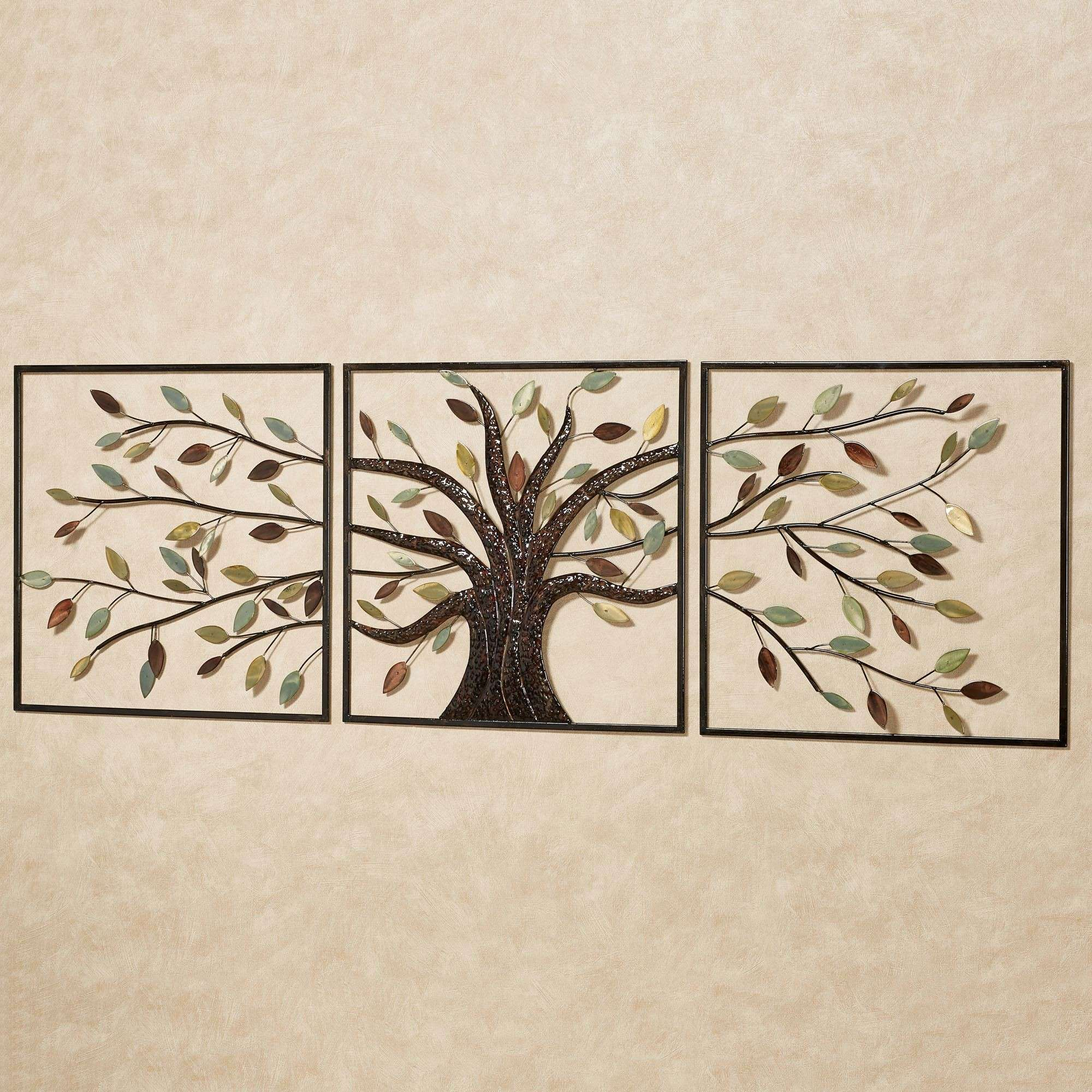 Set Of Three Wall Art Fresh Ever Changing Brown Tree Metal Wall Art ...