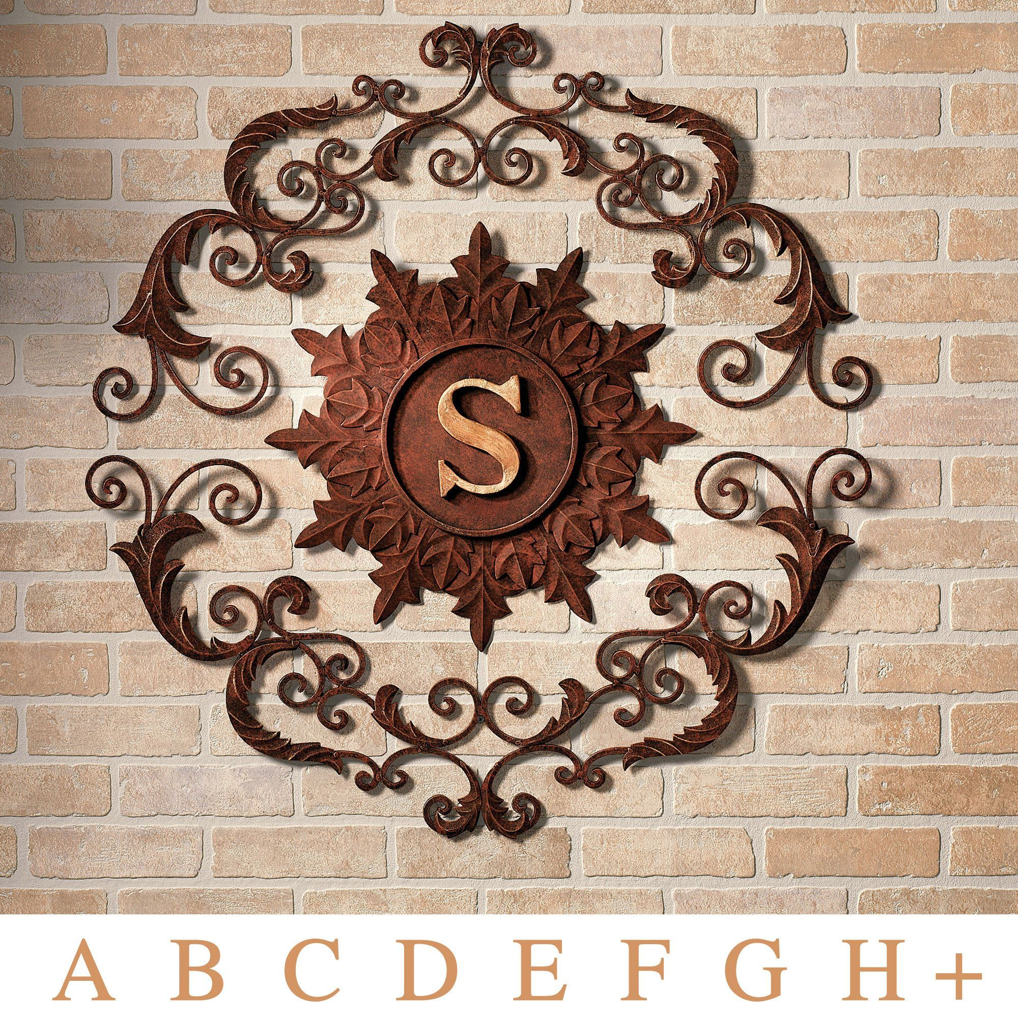 Kingston Monogram Metal Wall Grille