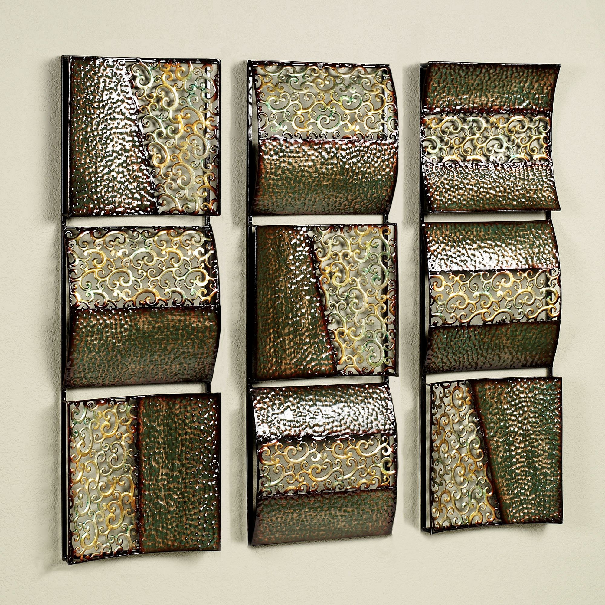 Intermission in Green Metal Wall Art Panel Set