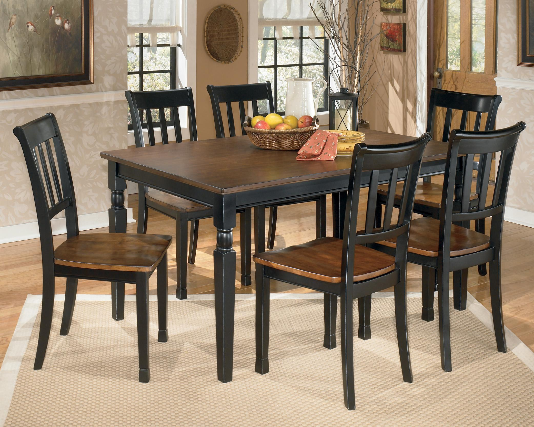 Signature Design by Ashley Owingsville 7-Piece Rectangular Dining ...