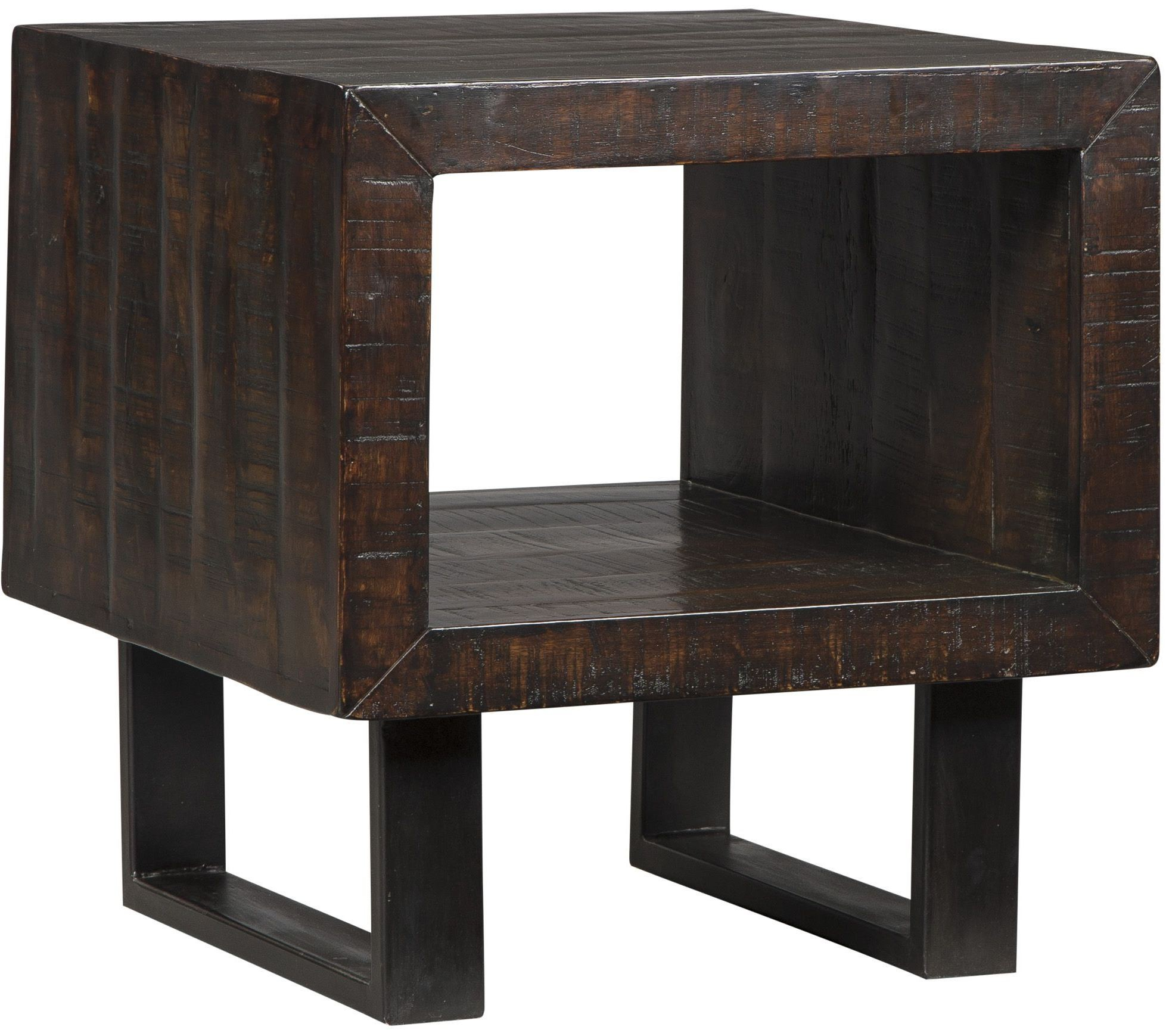 Parlone Deep Brown Rectangular End Table from Ashley | Coleman Furniture