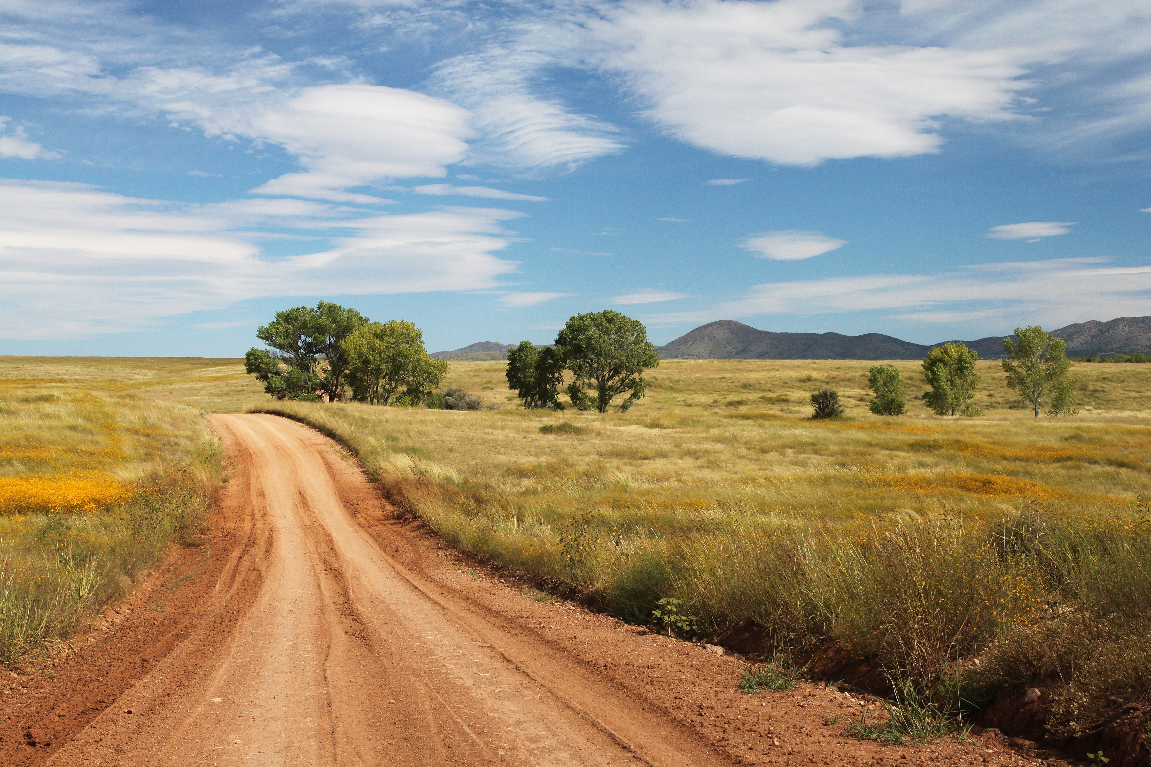 Brown Road Going to the Mountain Photography, Countryside, Dirt road, Grass, Landscape, HQ Photo