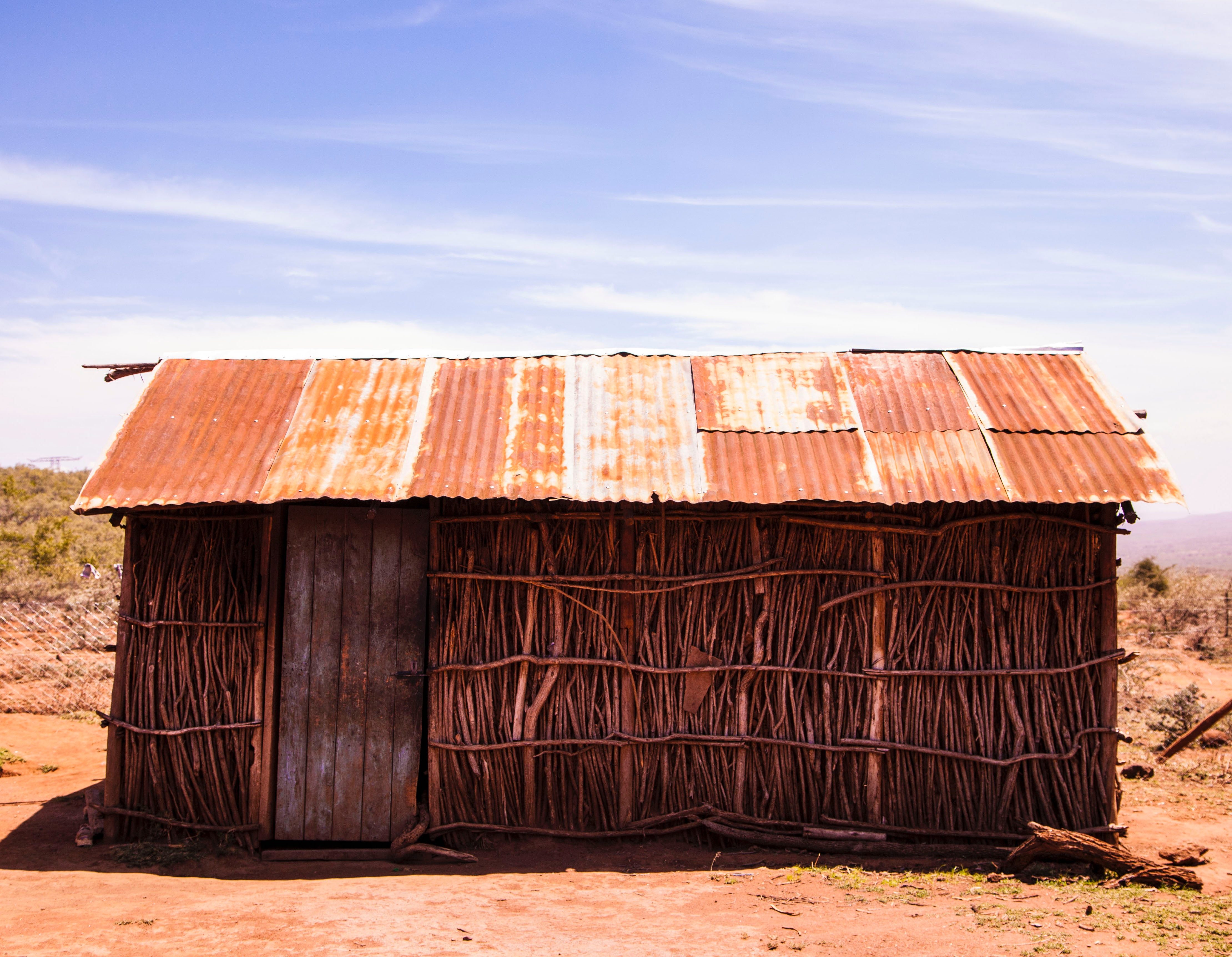 Brown Rusty Roof, Sand, Rusty, Shed, Sky, HQ Photo
