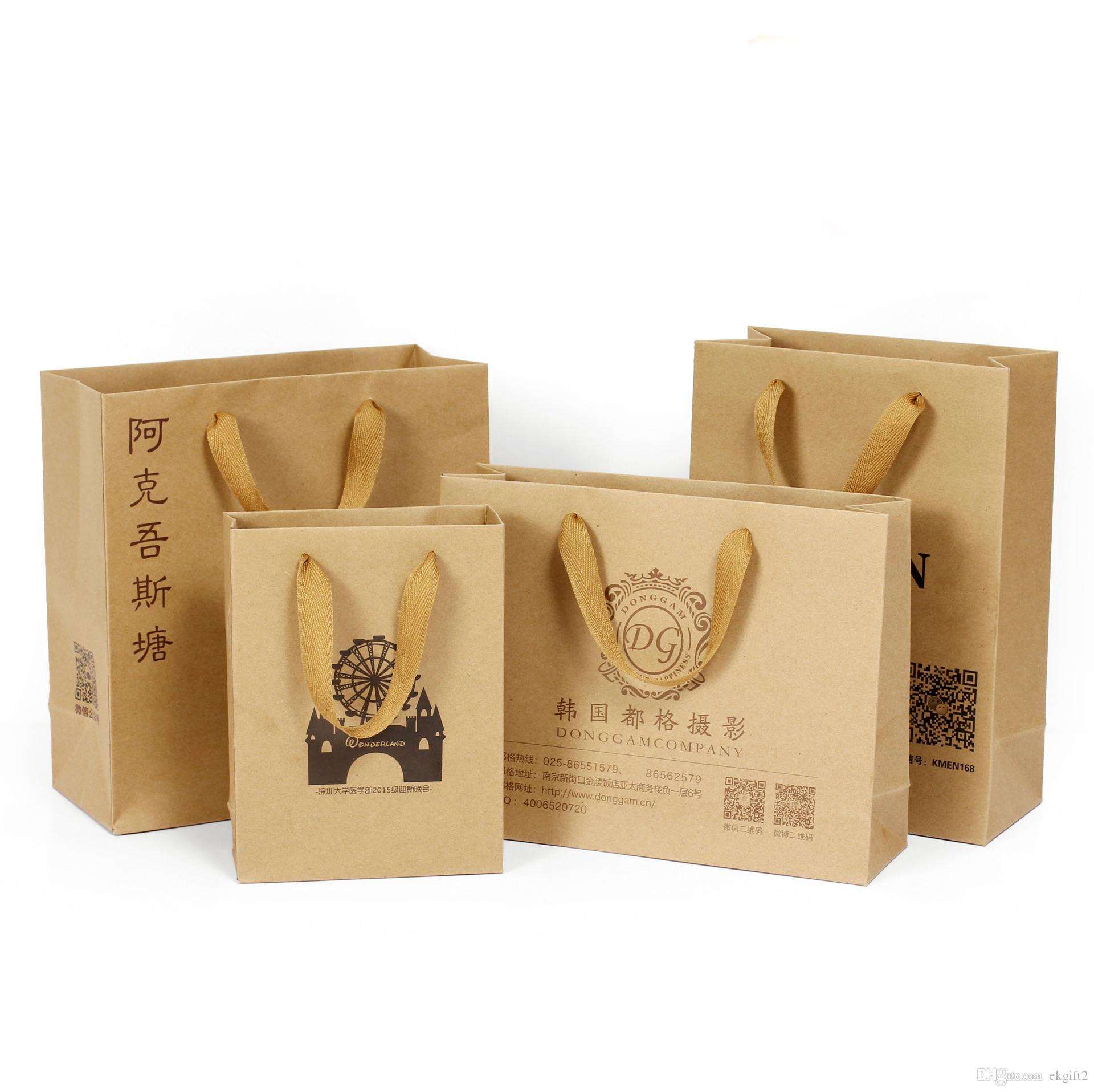 2018 Easy Carry Kraft Paper Bag With Handle E Co Craft Paper ...