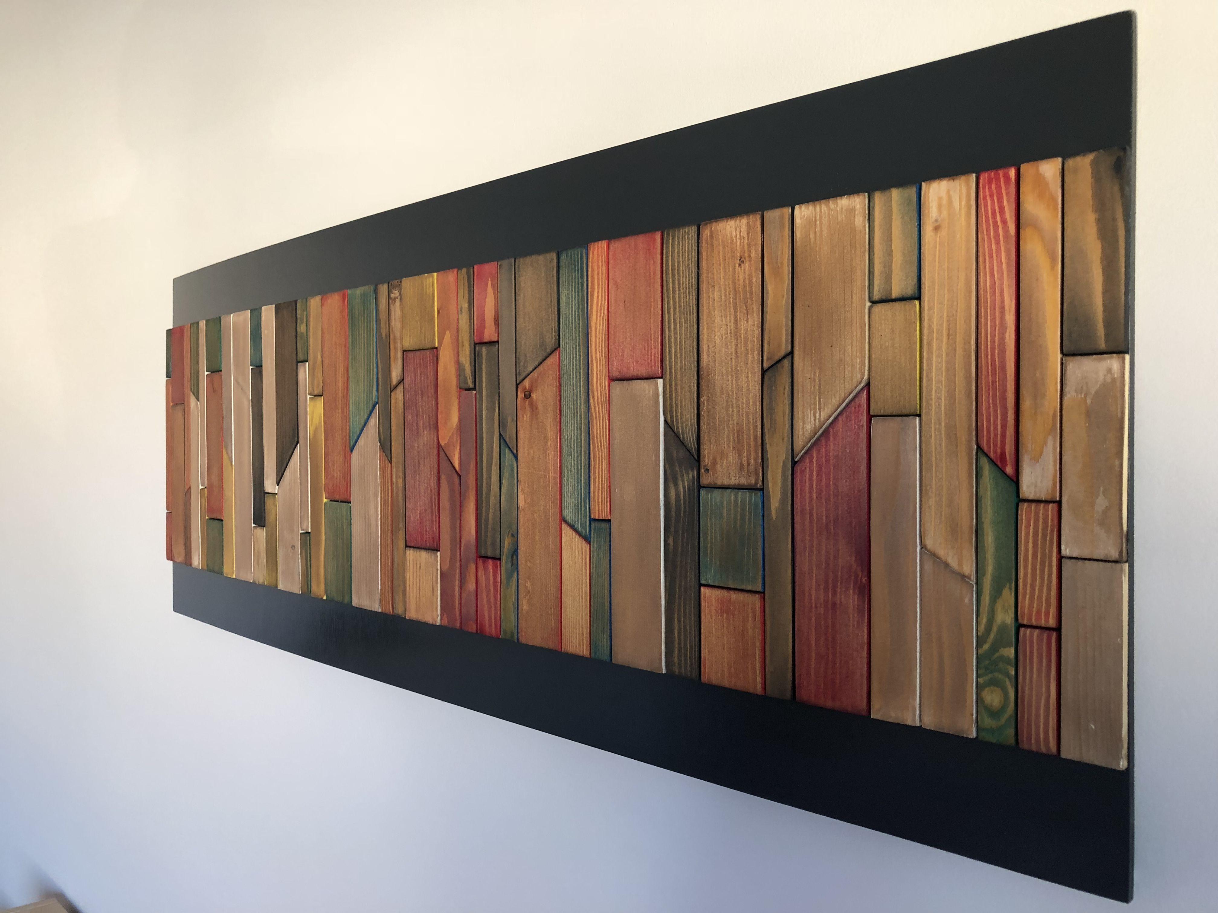 Tableau abstrait bois huilé | Идеи для ремонта | Pinterest | Wood ...