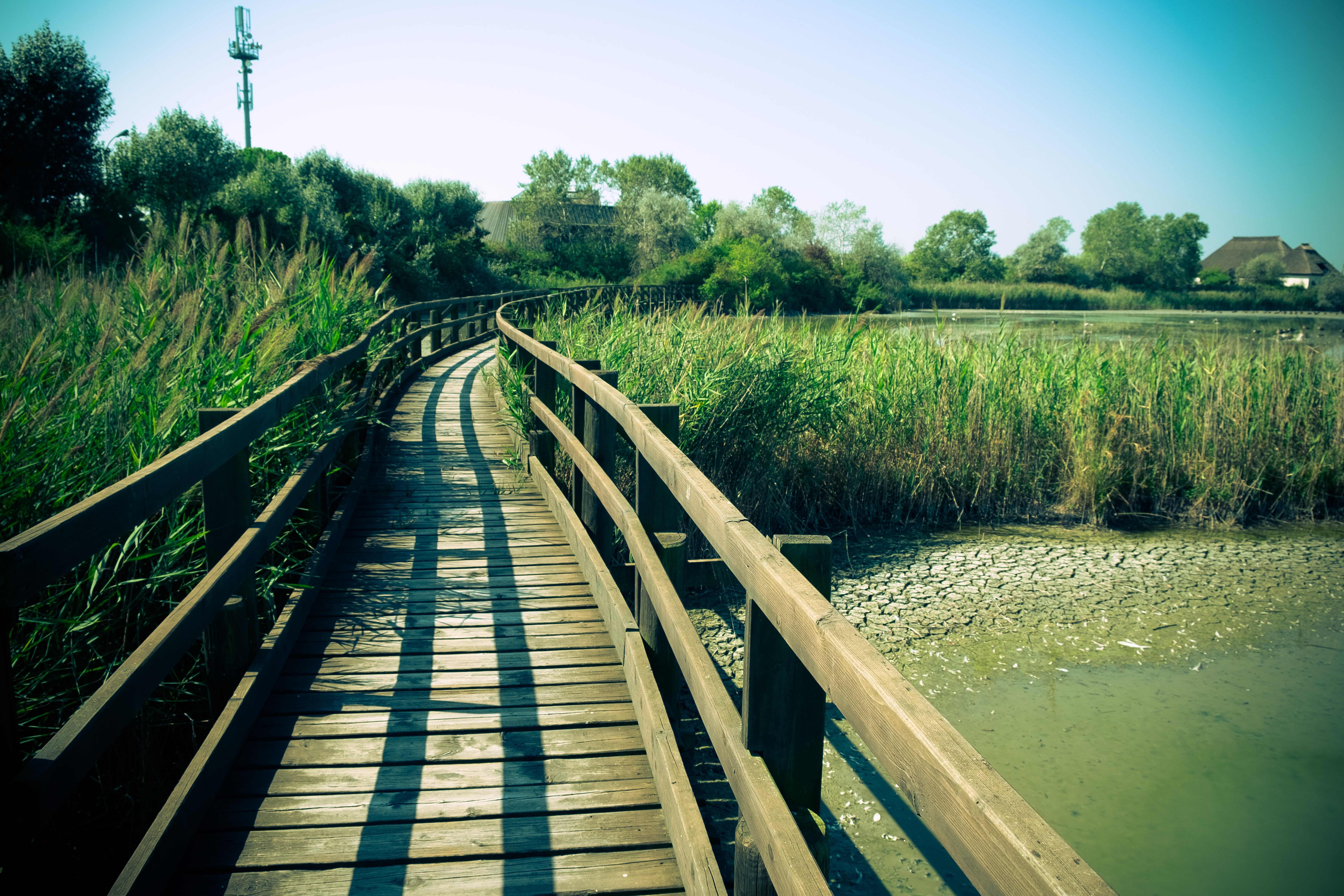 Brown wooden bridge, italy, marano lagunare HD wallpaper   Wallpaper ...
