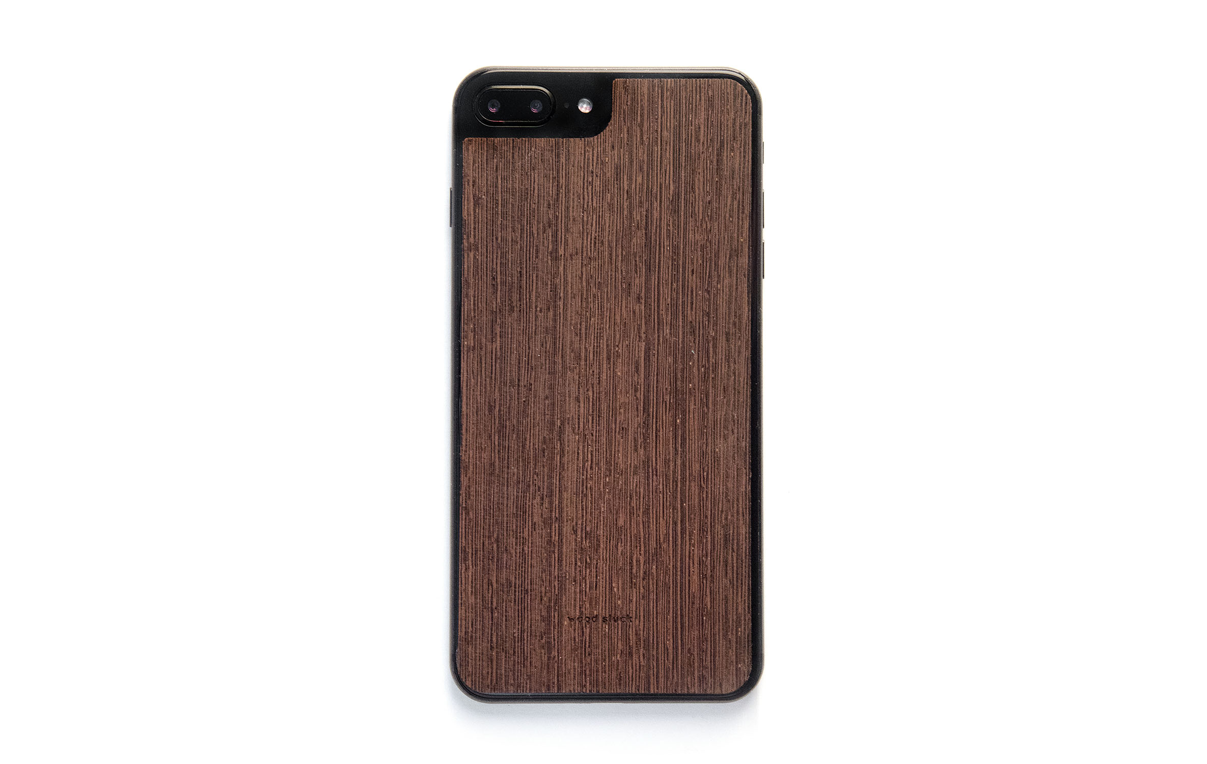 Wooden iPhone 8 Plus Case made of Wenge • Wood Stuck