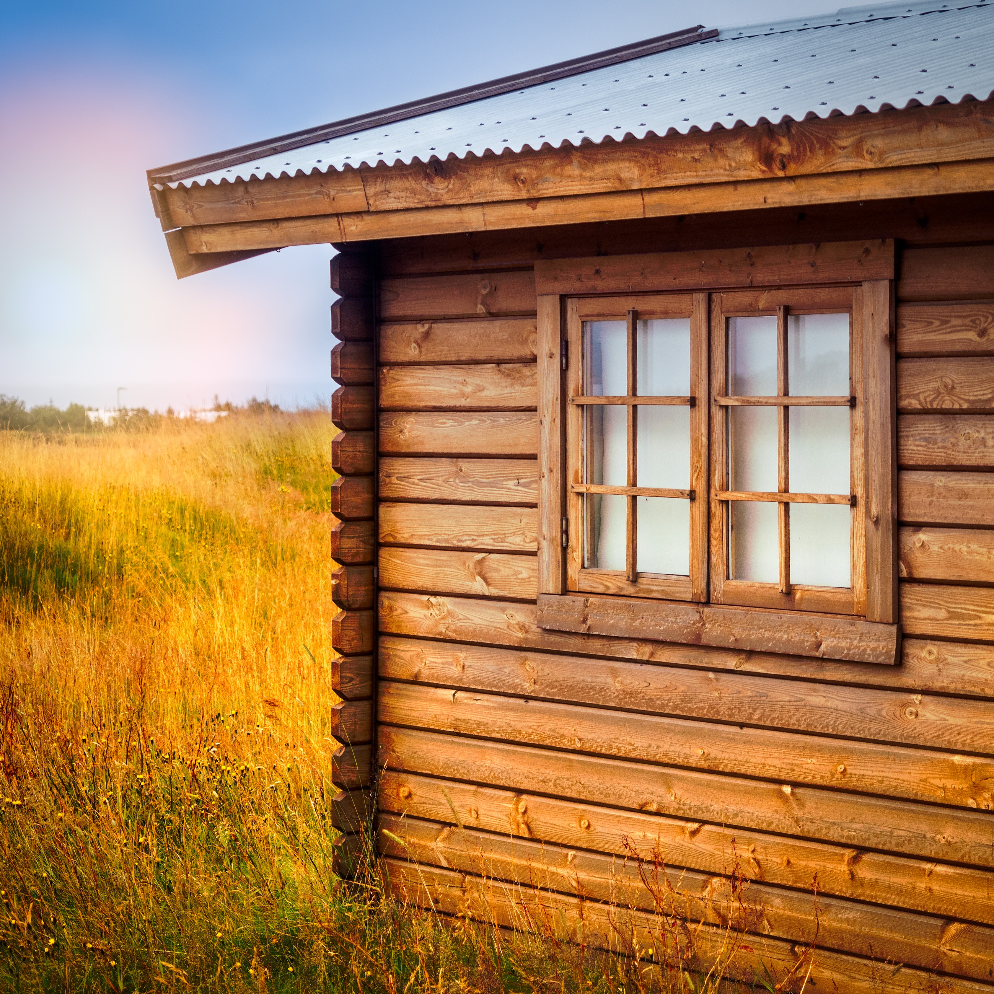 Brown Wooden Cottage at the Field during Day, Architecture, Rural, Wooden cabin, Wooden, HQ Photo
