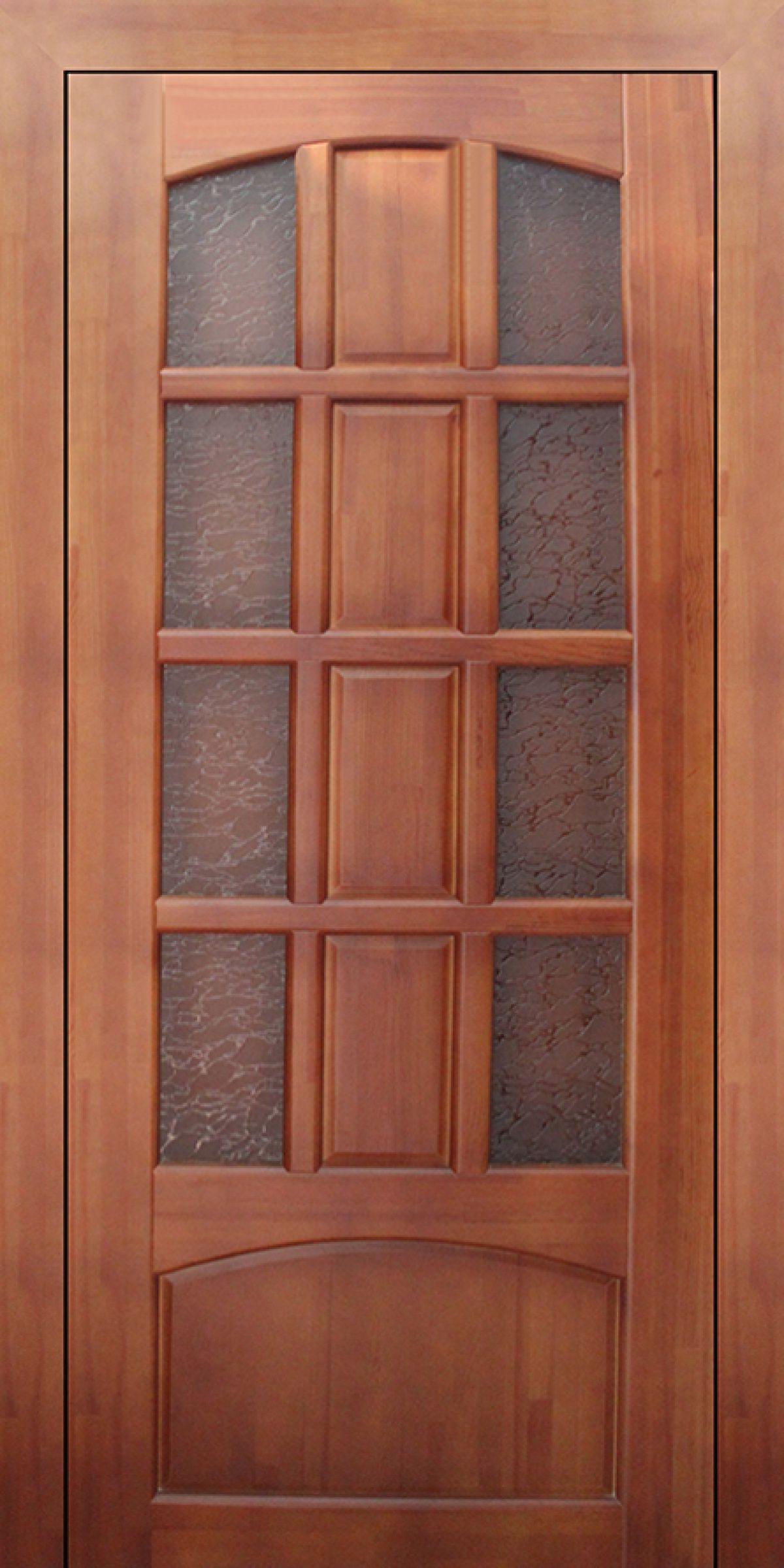 Solid wood door with glass
