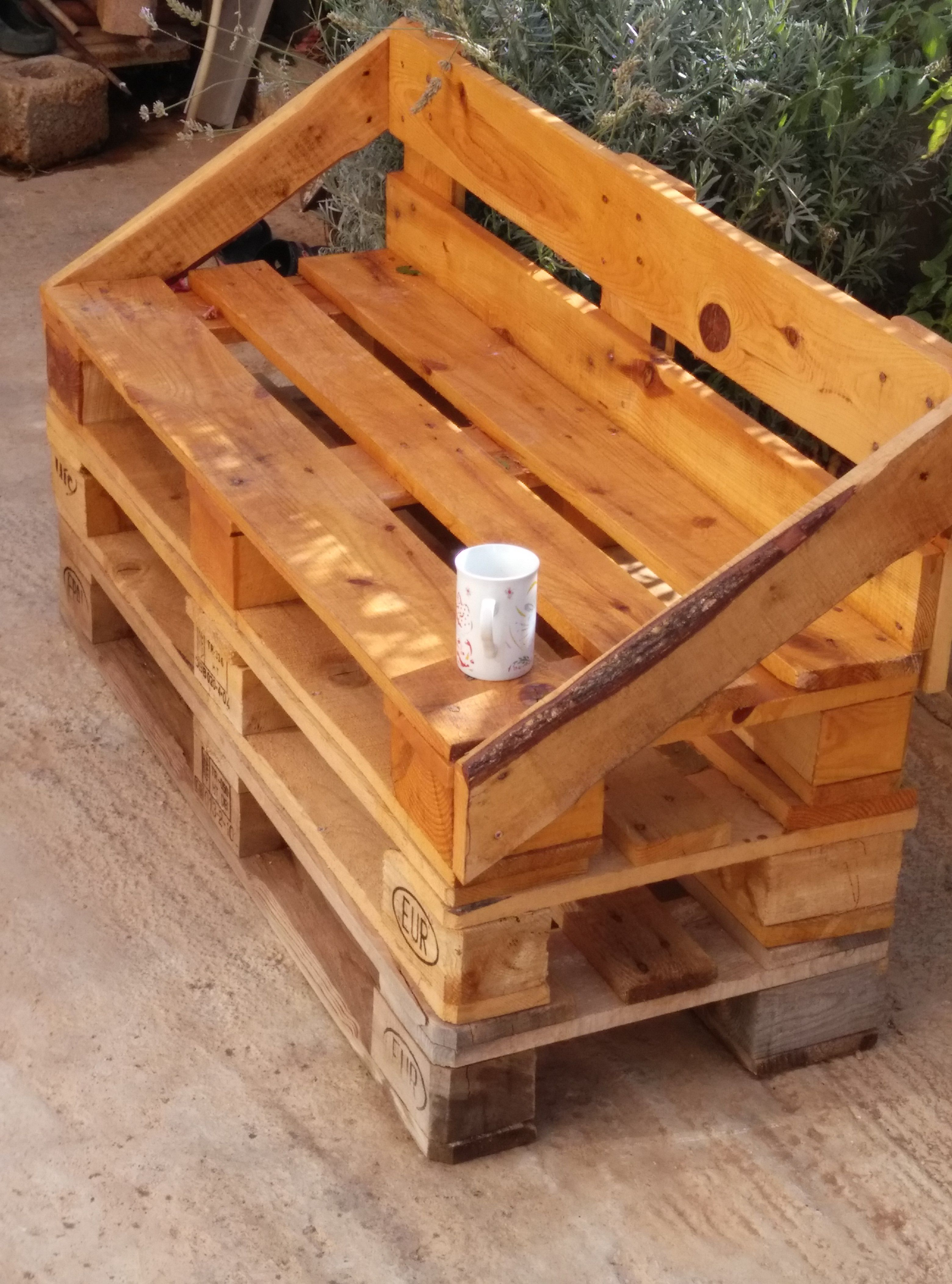 Brown wooden pallets photo