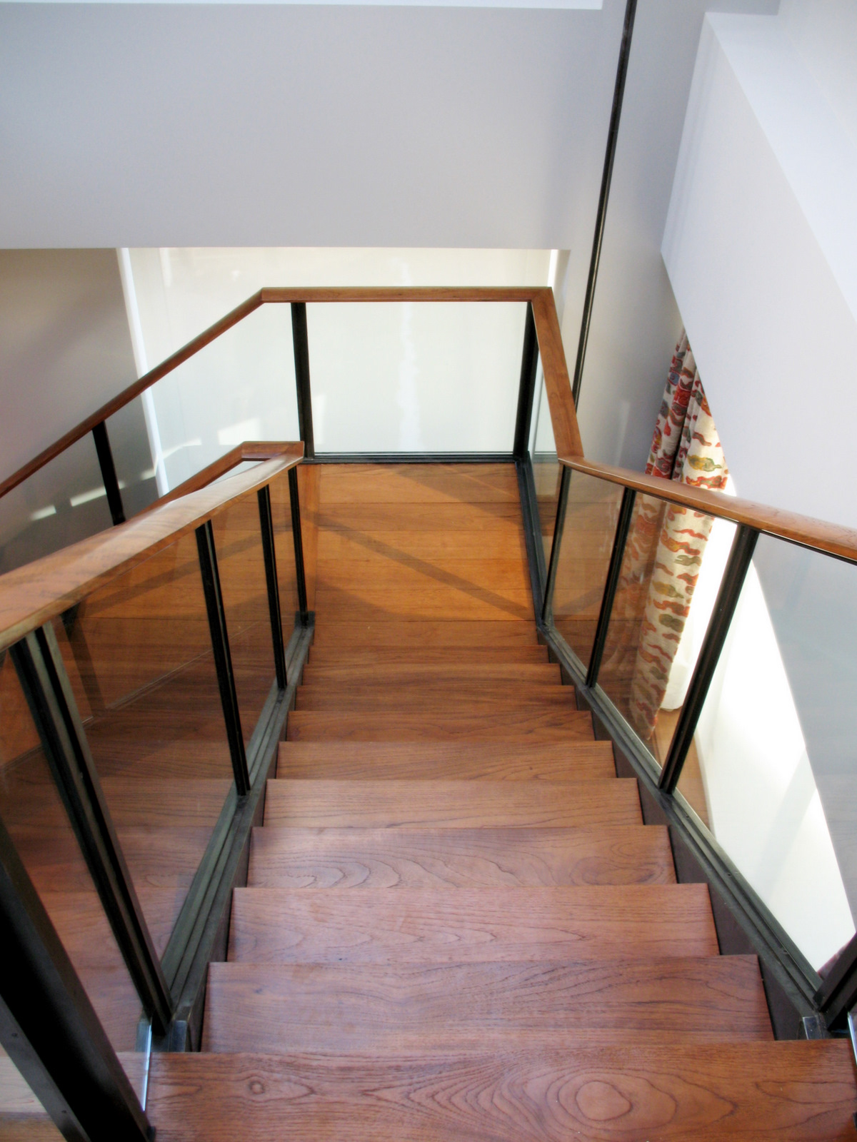 Brown wooden stairs photo