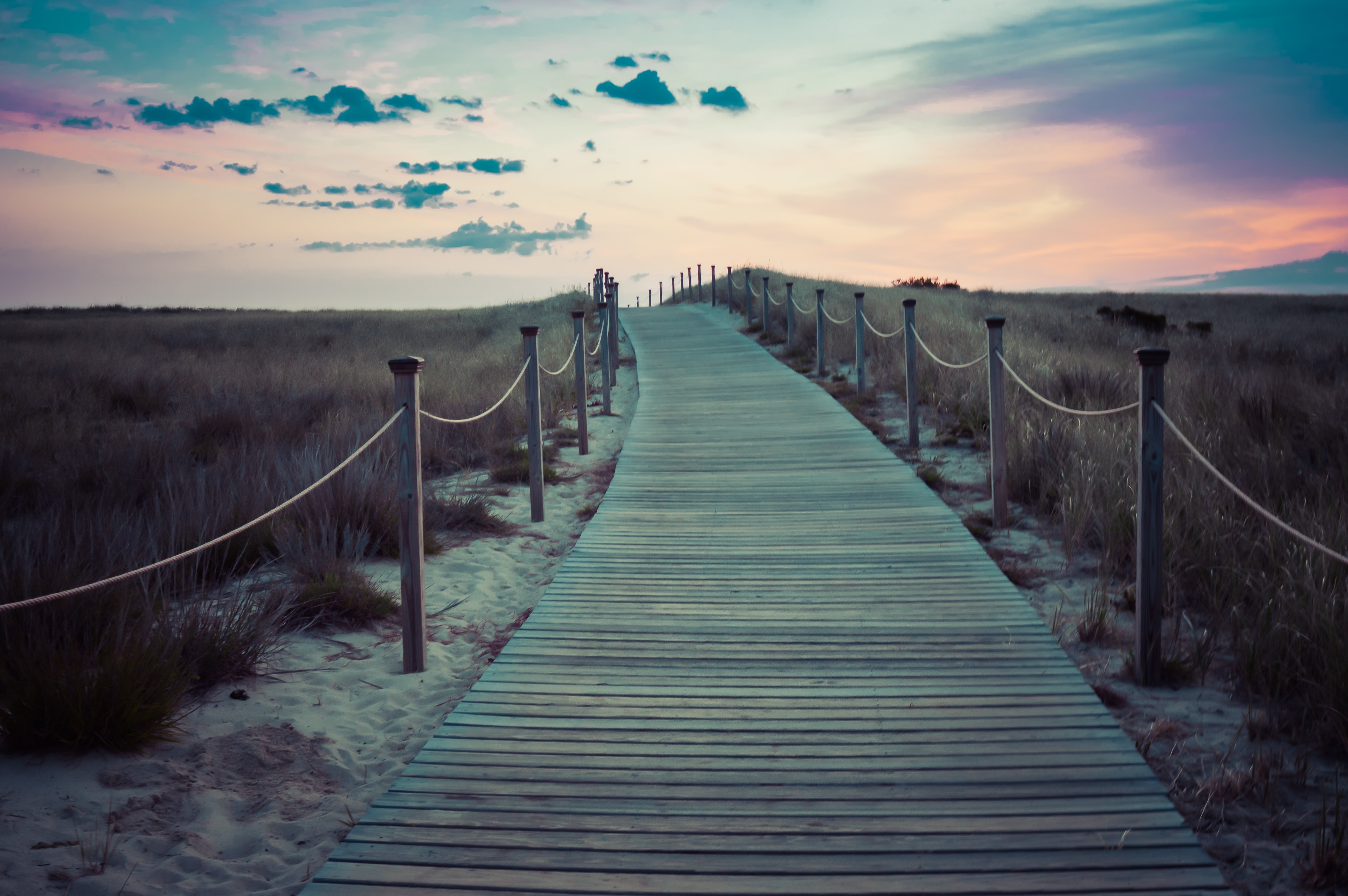 Brown wooden walkway photo