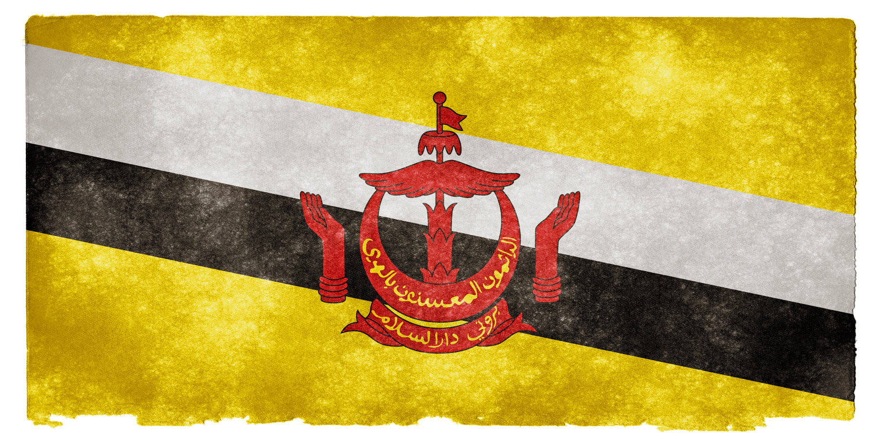 Brunei Grunge Flag, Aged, Retro, Old, Page, HQ Photo
