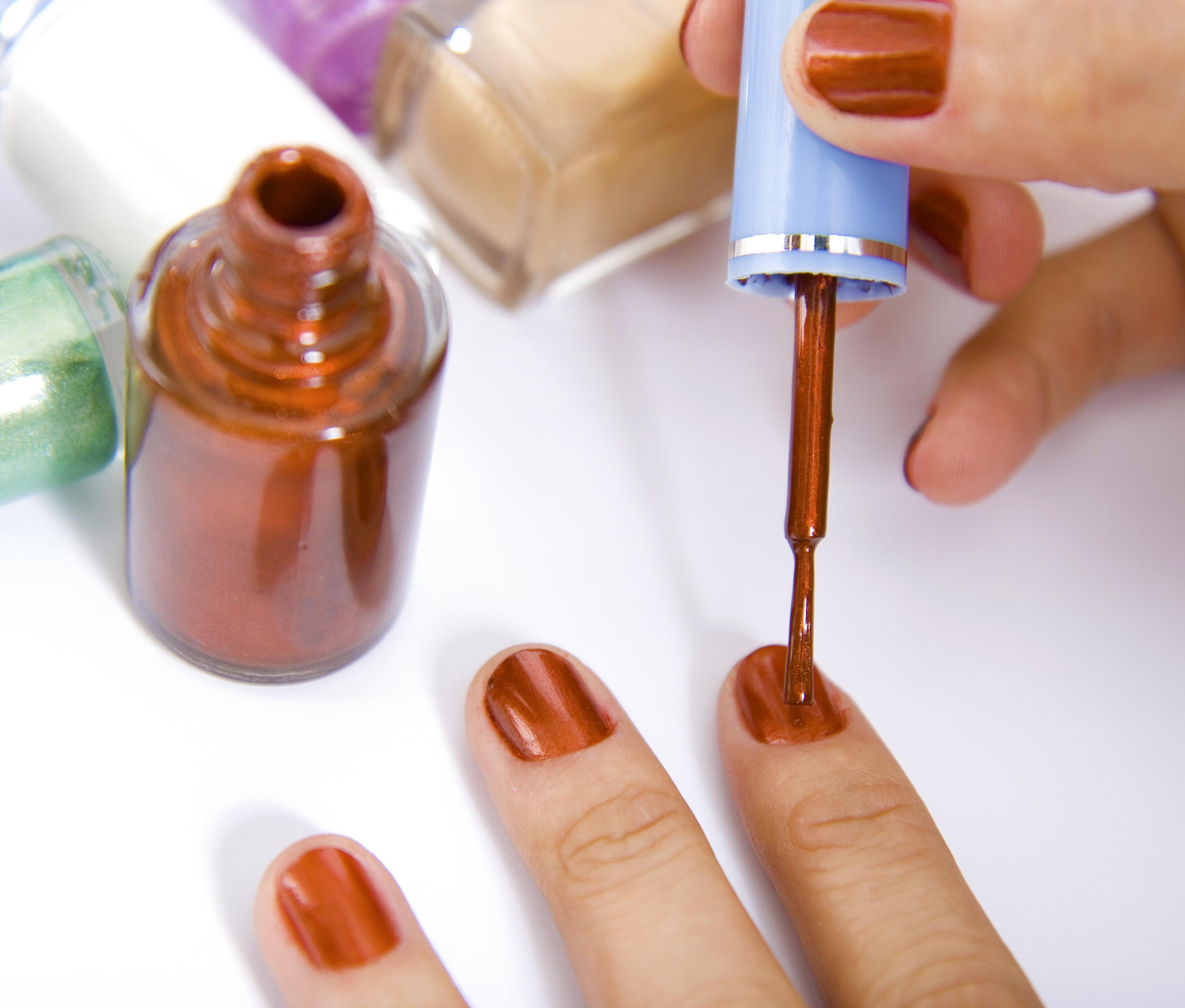 Brushing Nails with Nail Polish, Hands, Hand, Glamorous, Fingernails, HQ Photo