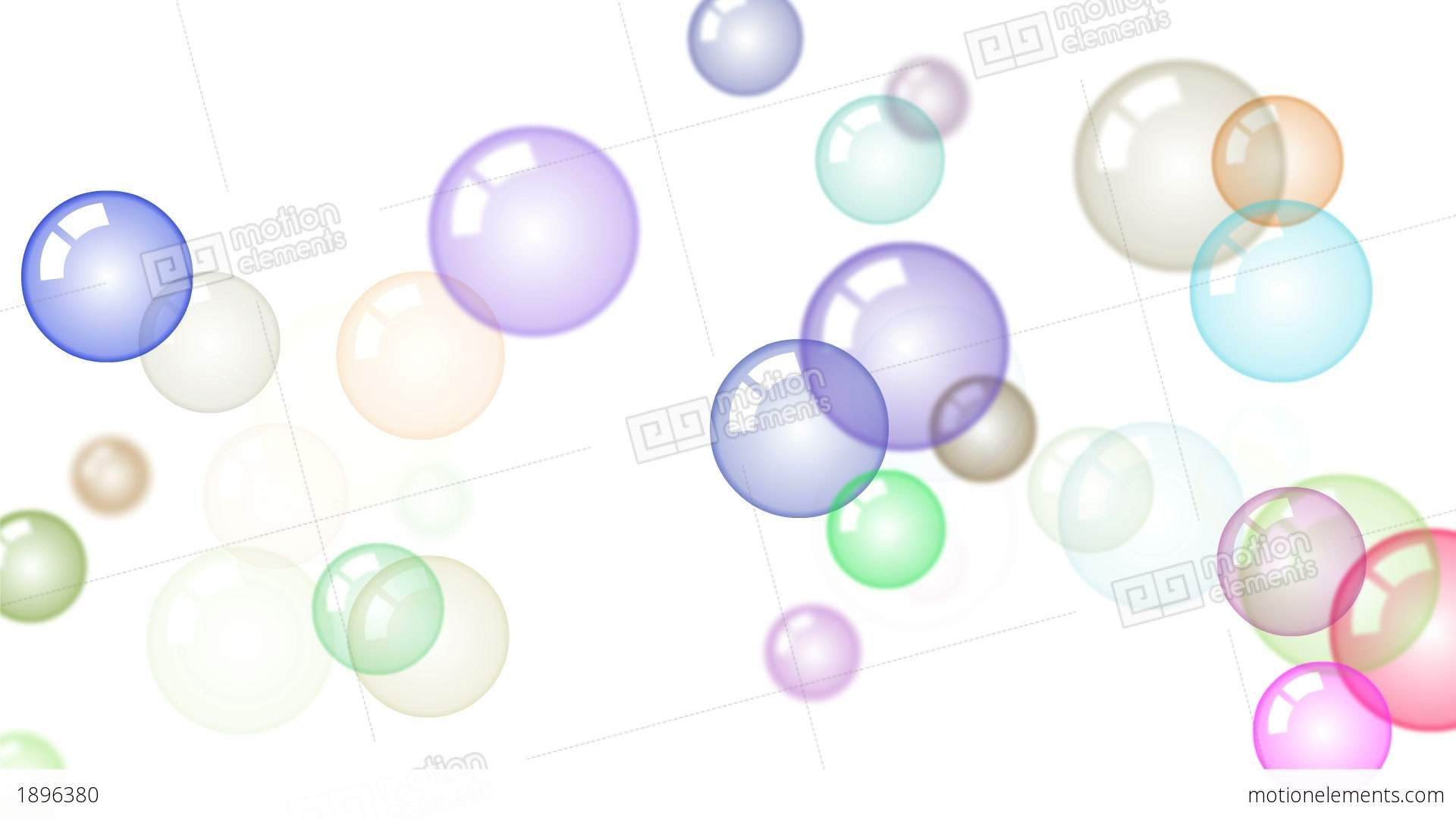 Motion Background With Moving Soap Bubbles Stock Animation | 1896380