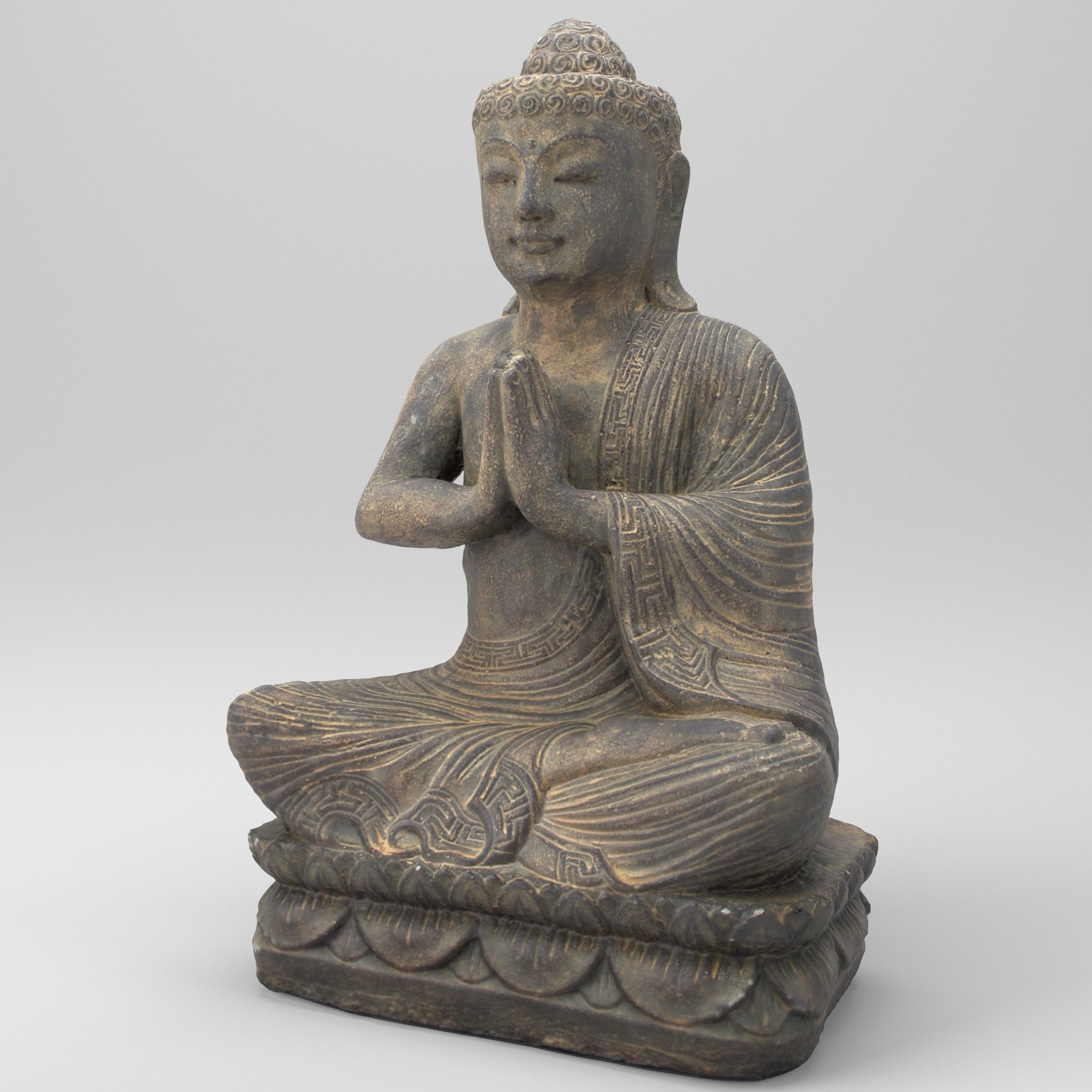 3D asset game-ready Buddha statue | CGTrader