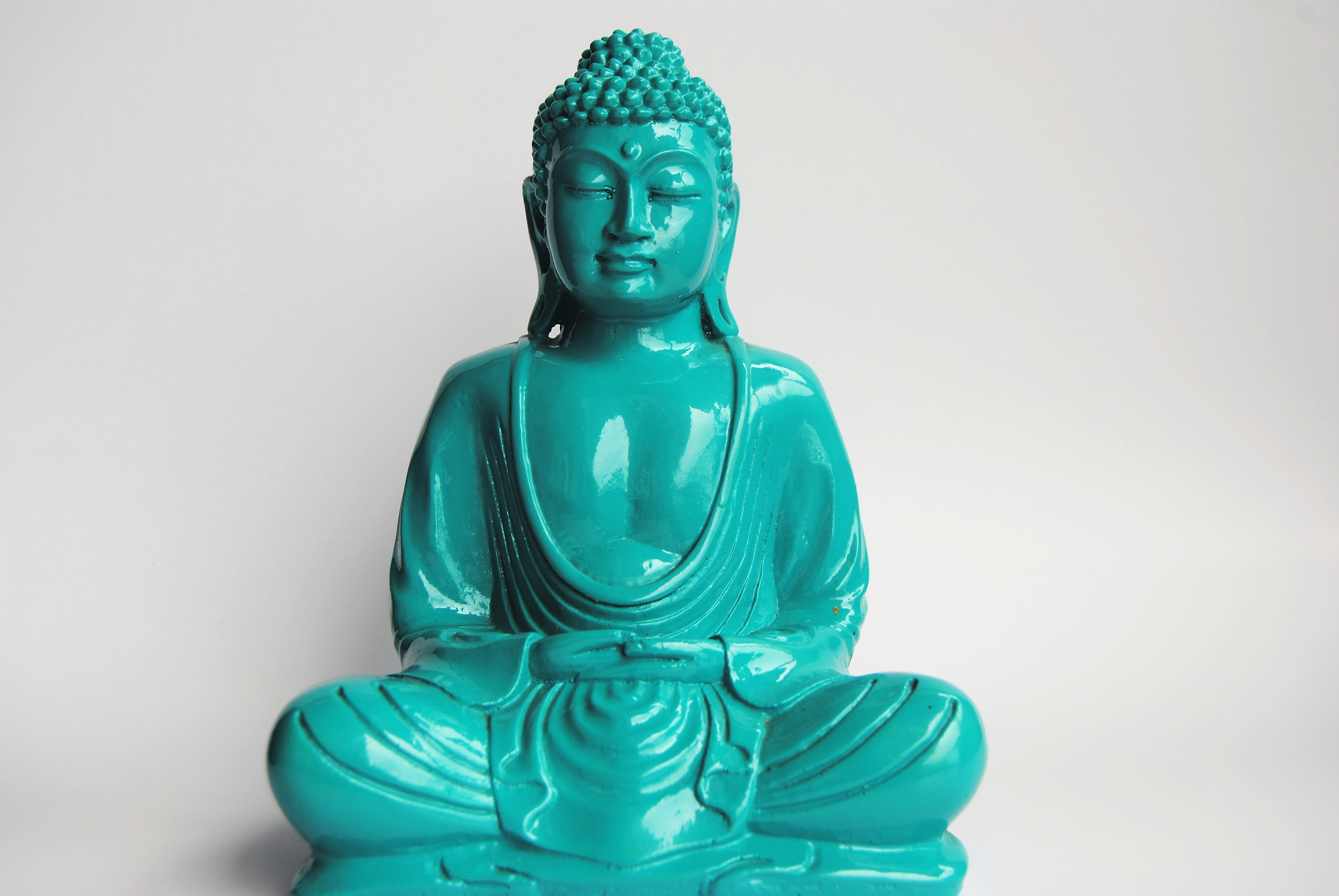 Buddha Statue Big - TURQUOISE - Bungalow Room