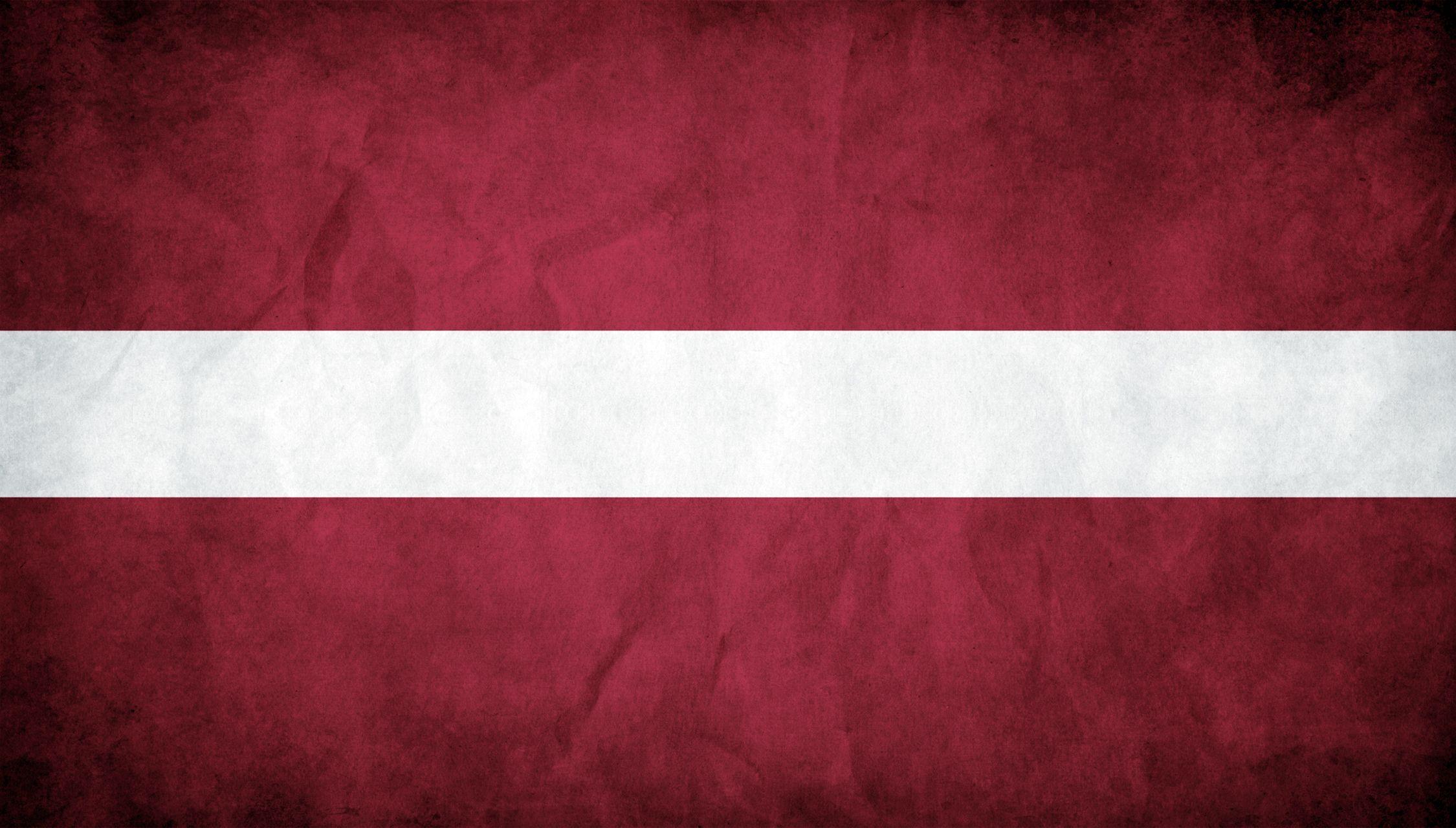 Latvia grunge flag photo