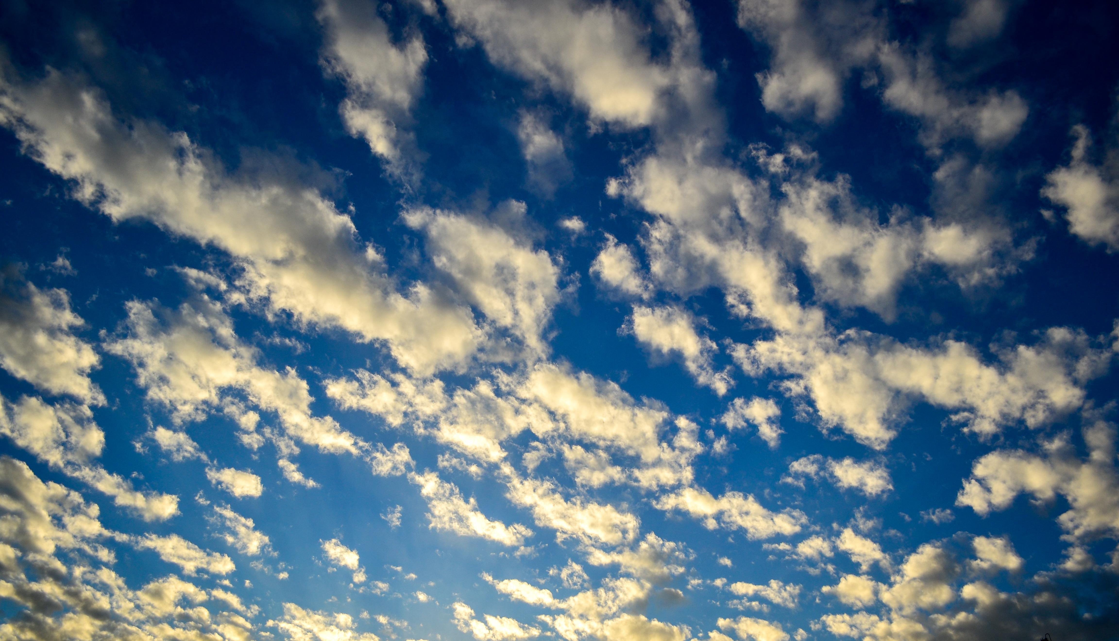 Bue sky, Blue, Clouds, Sky, HQ Photo