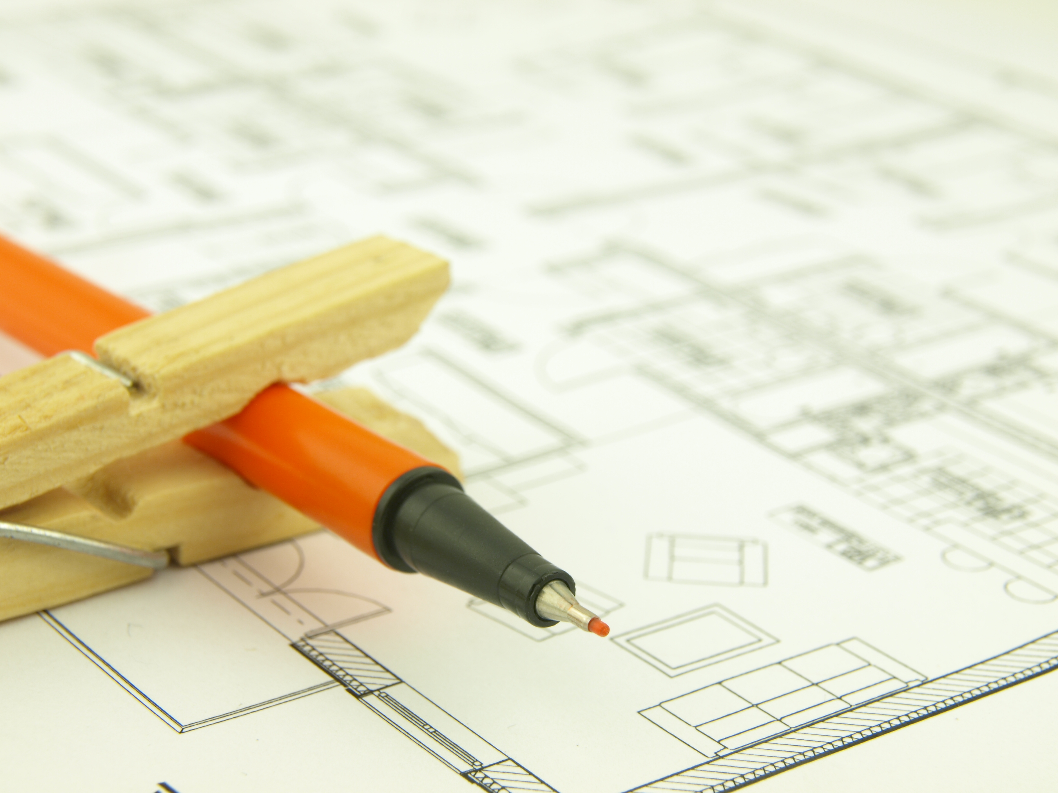 Build a house and architect tools photo