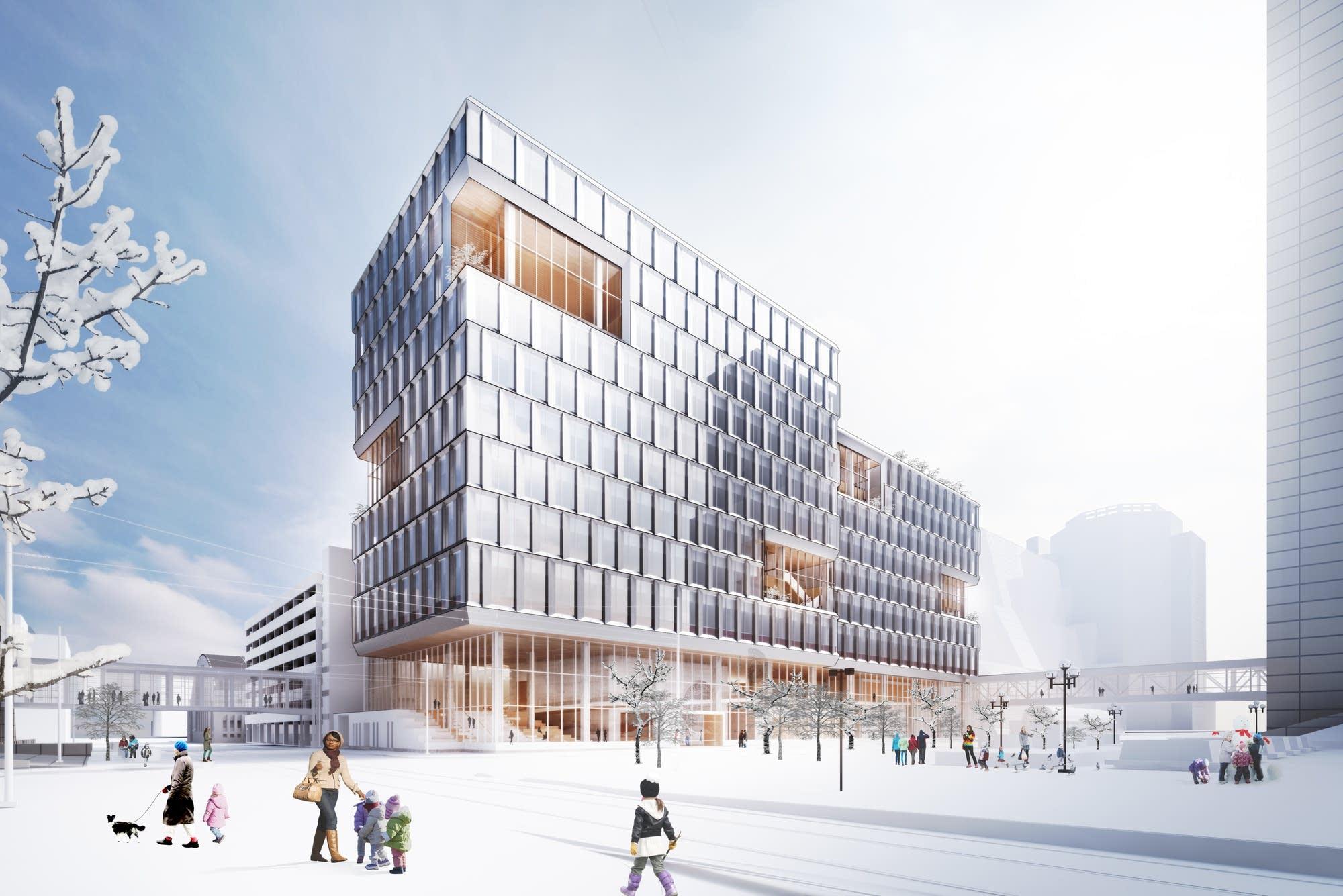 Minneapolis unveils plans for a new municipal office building ...