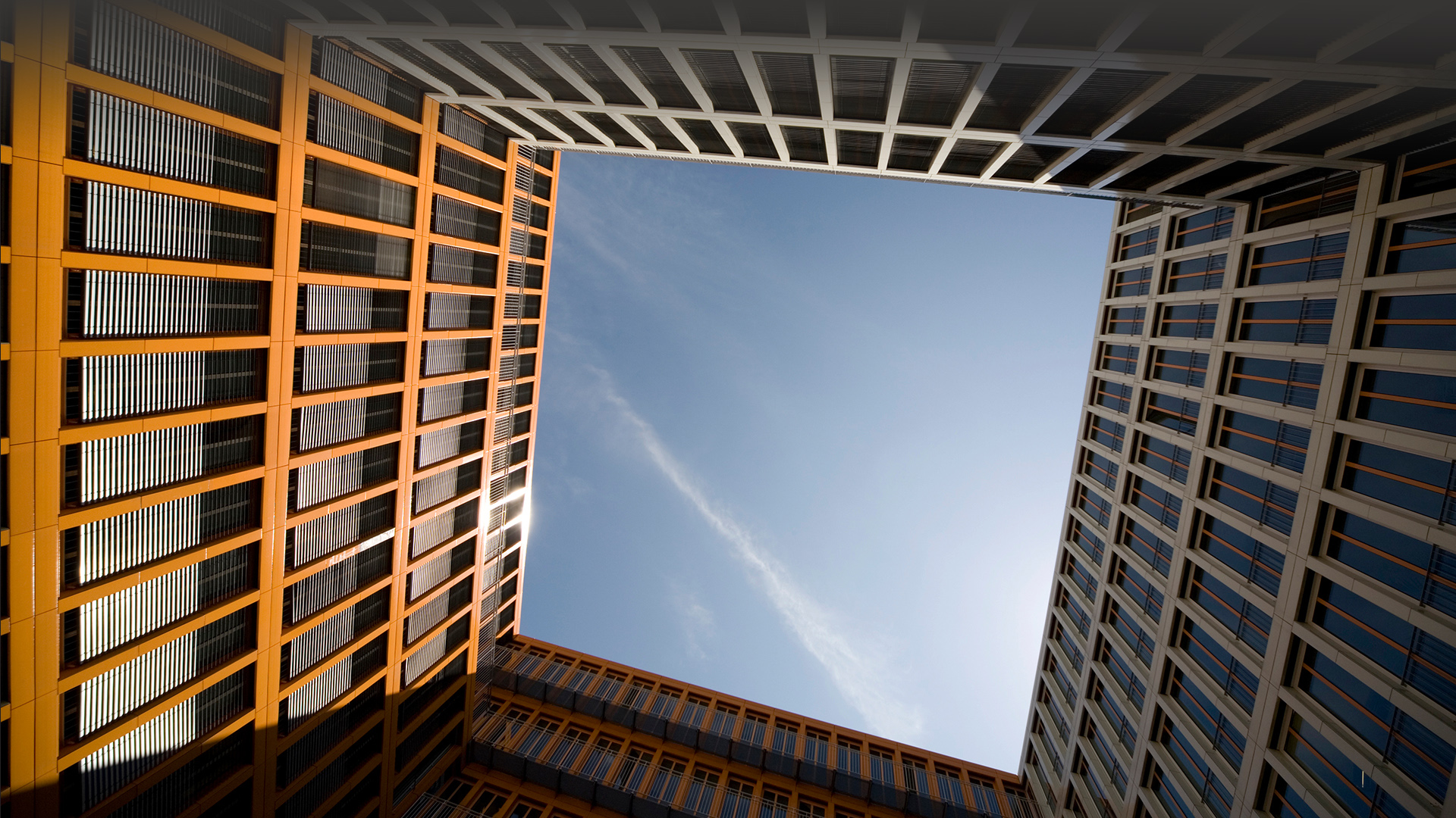 Office building against clear sky | Windows 10 SpotLight Images