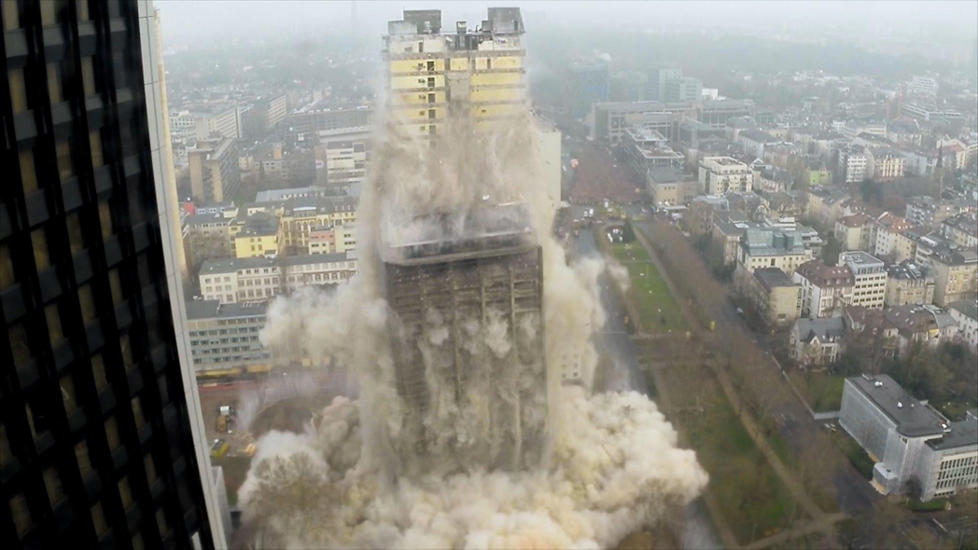 Building demolishment photo