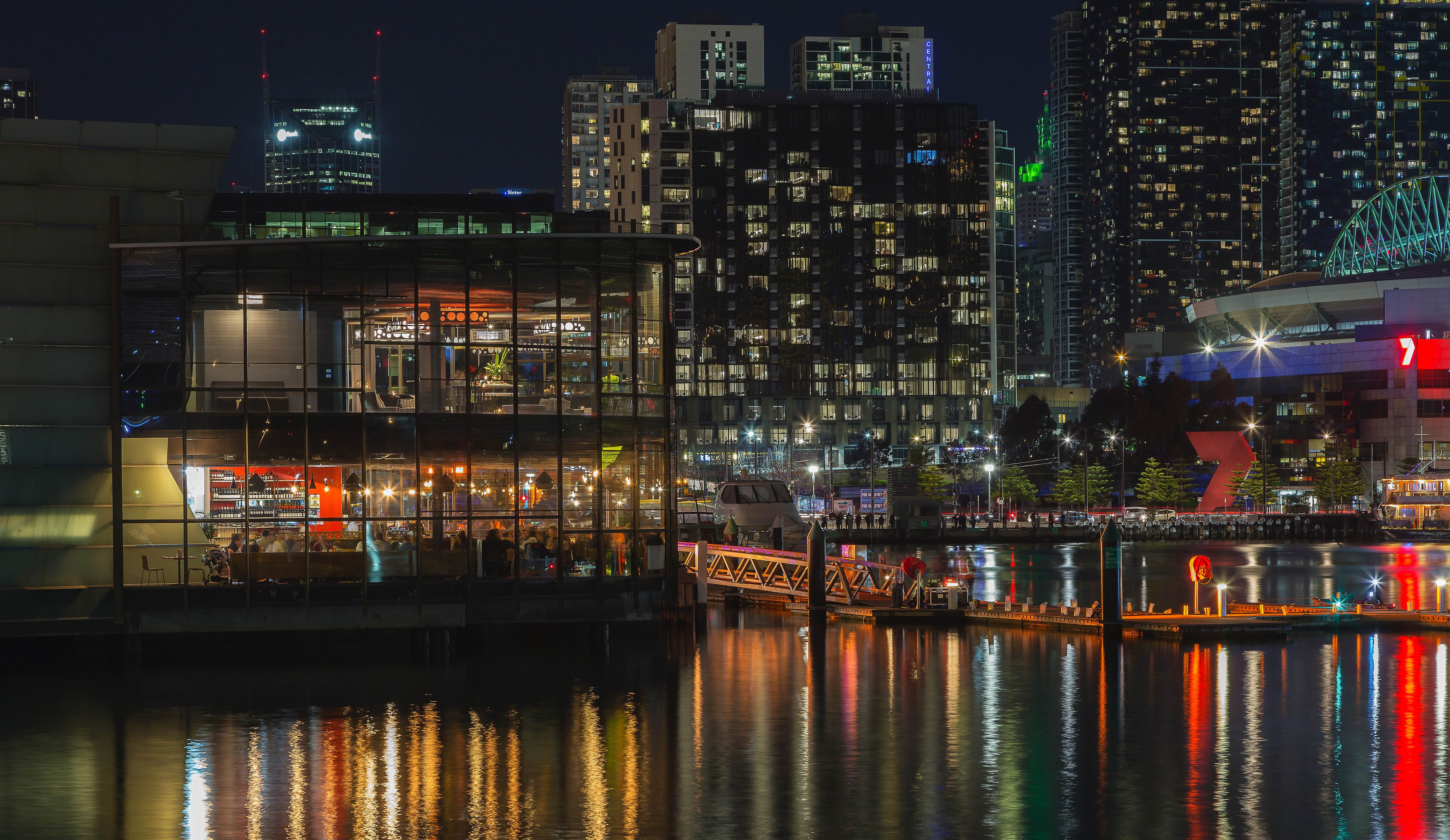 Building on Waters, Architecture, Water, Urban, Skyscrapers, HQ Photo